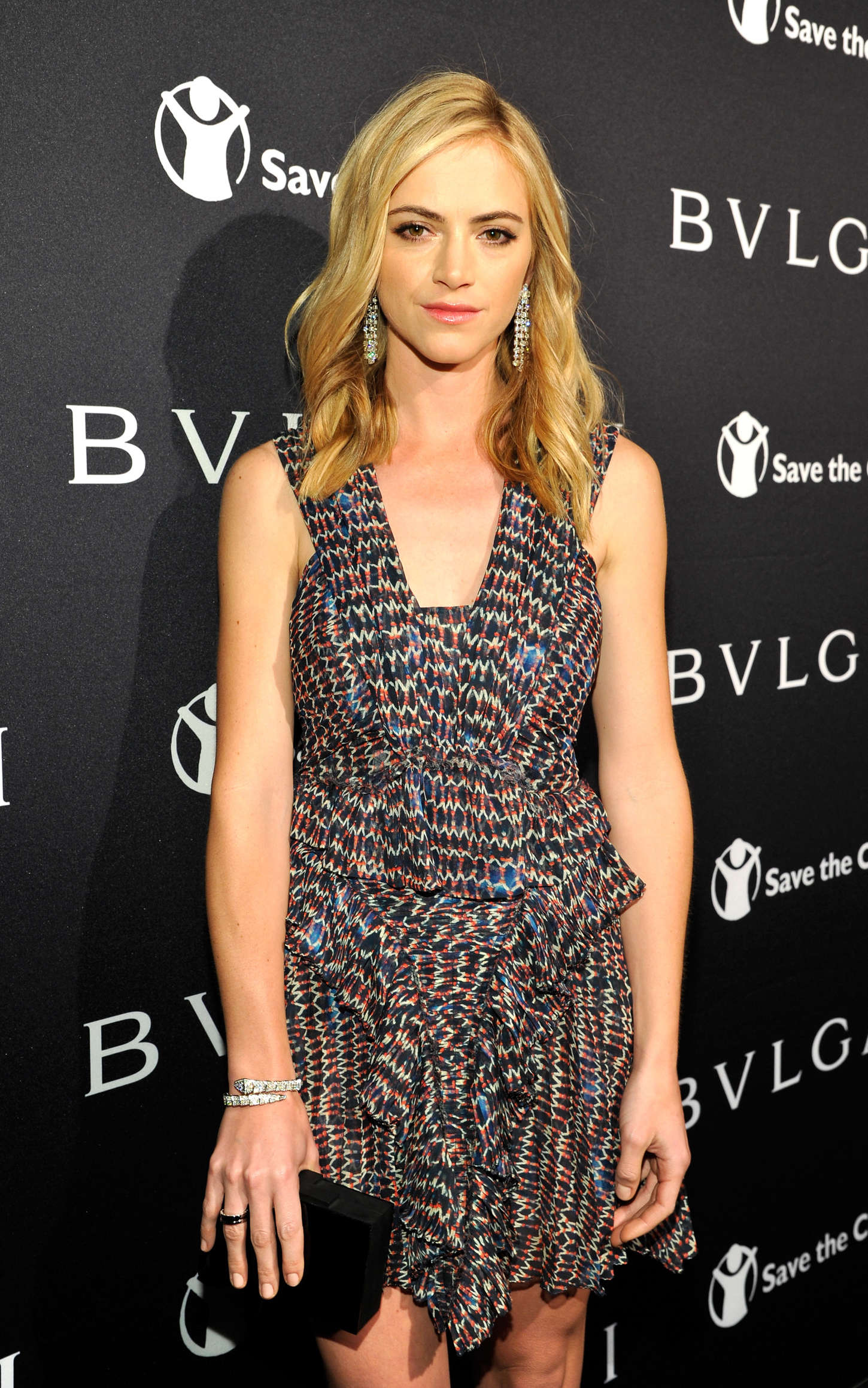 Emily Wickersham BVLGARI Save The Children STOP THINK GIVE Pre-Oscar Event in Beverly