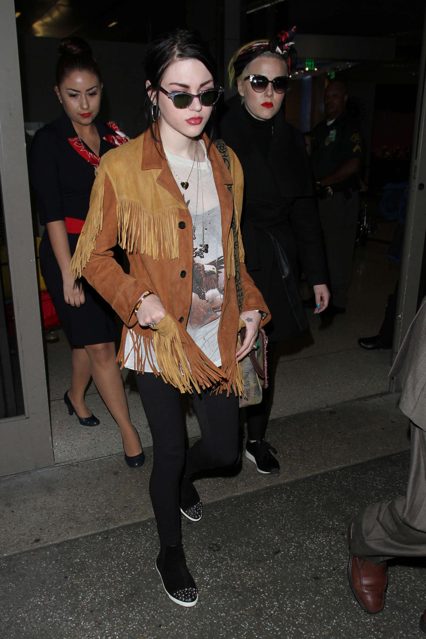 Frances Bean Cobain at LAX Airport in Los Angeles