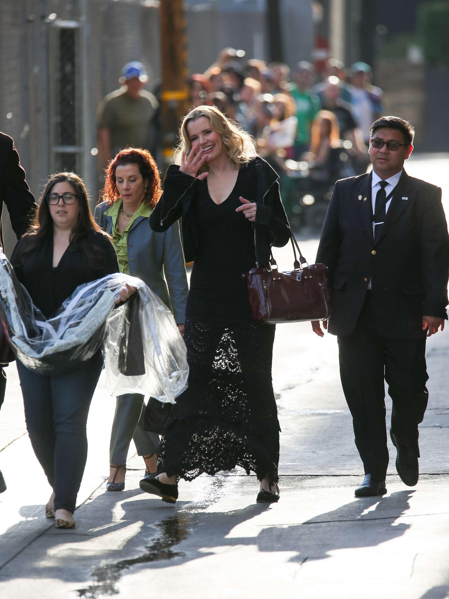 Geena Davis Arriving at Jimmy Kimmel Live in Los Angeles
