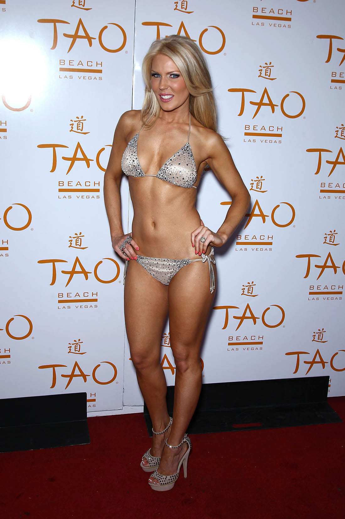 Gretchen Rossi In a bikini Hosts Bling Beach at Tao Hotel in Las Vegas