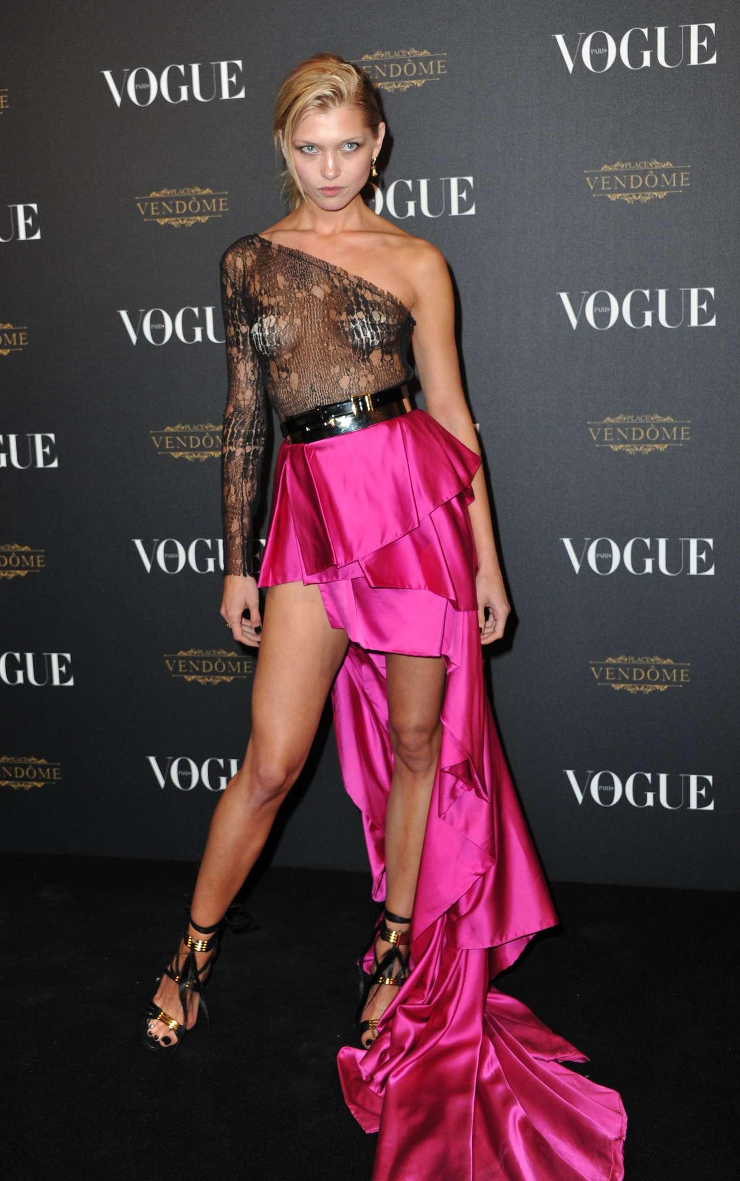 Hana Jirickova Vogue Anniversary Party in Paris