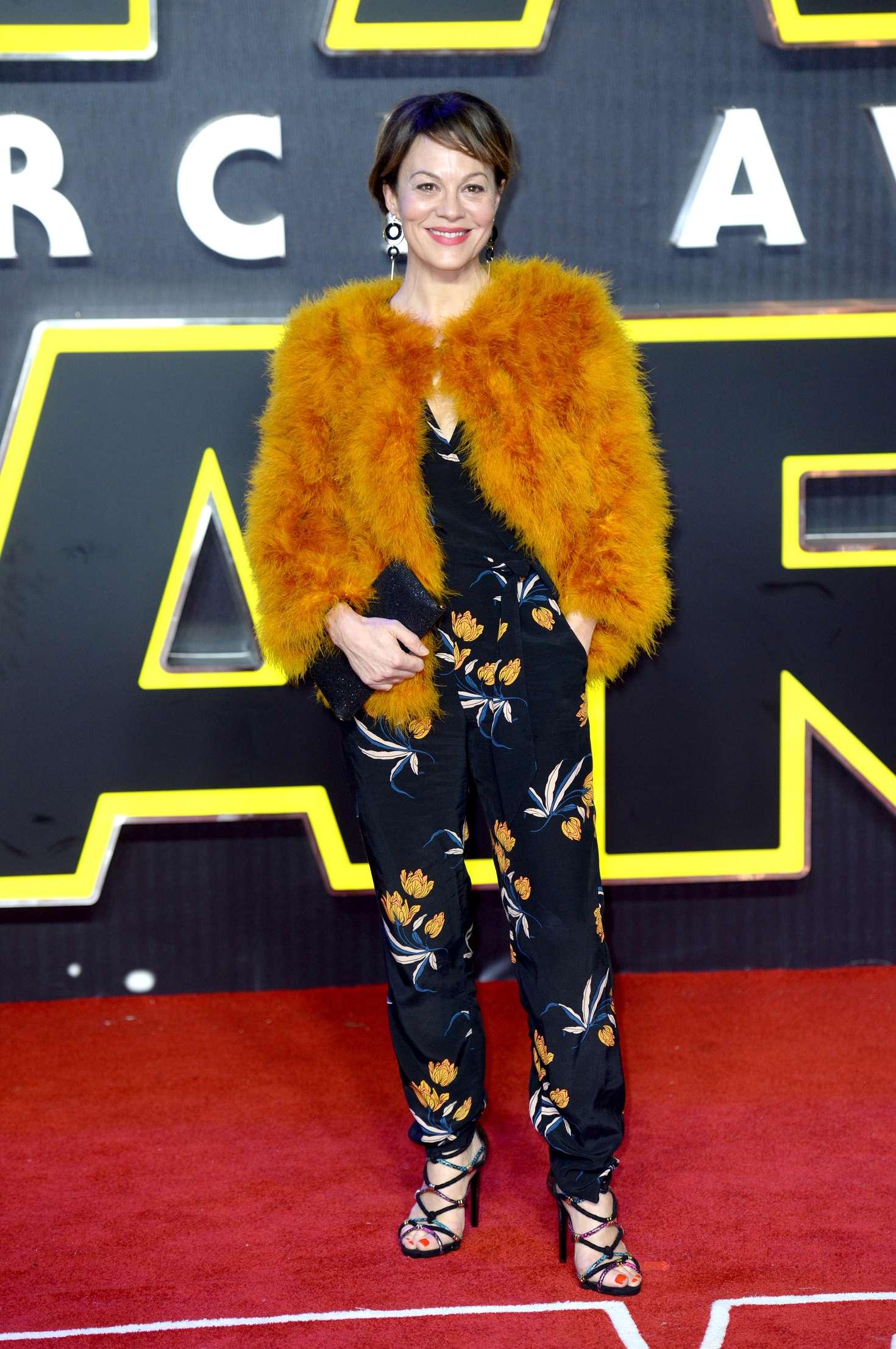 Helen McCrory Star Wars The Force Awakens Premiere in London