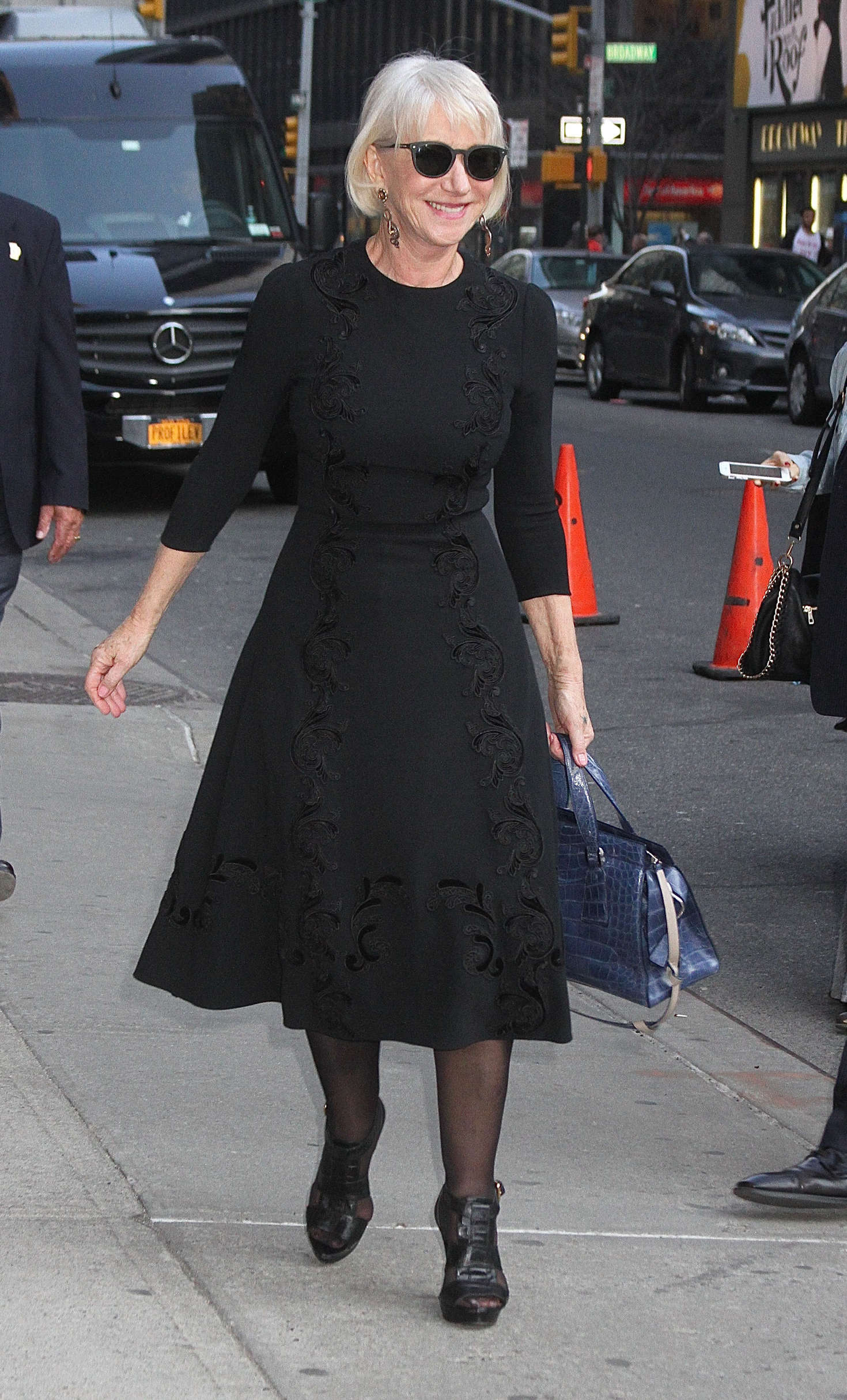 Helen Mirren Arrives at The Late Show with Stephen Colbert in New York