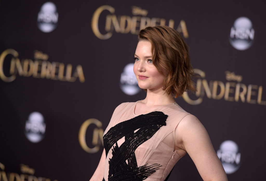Holliday Grainger Cinderella Premiere in Hollywood