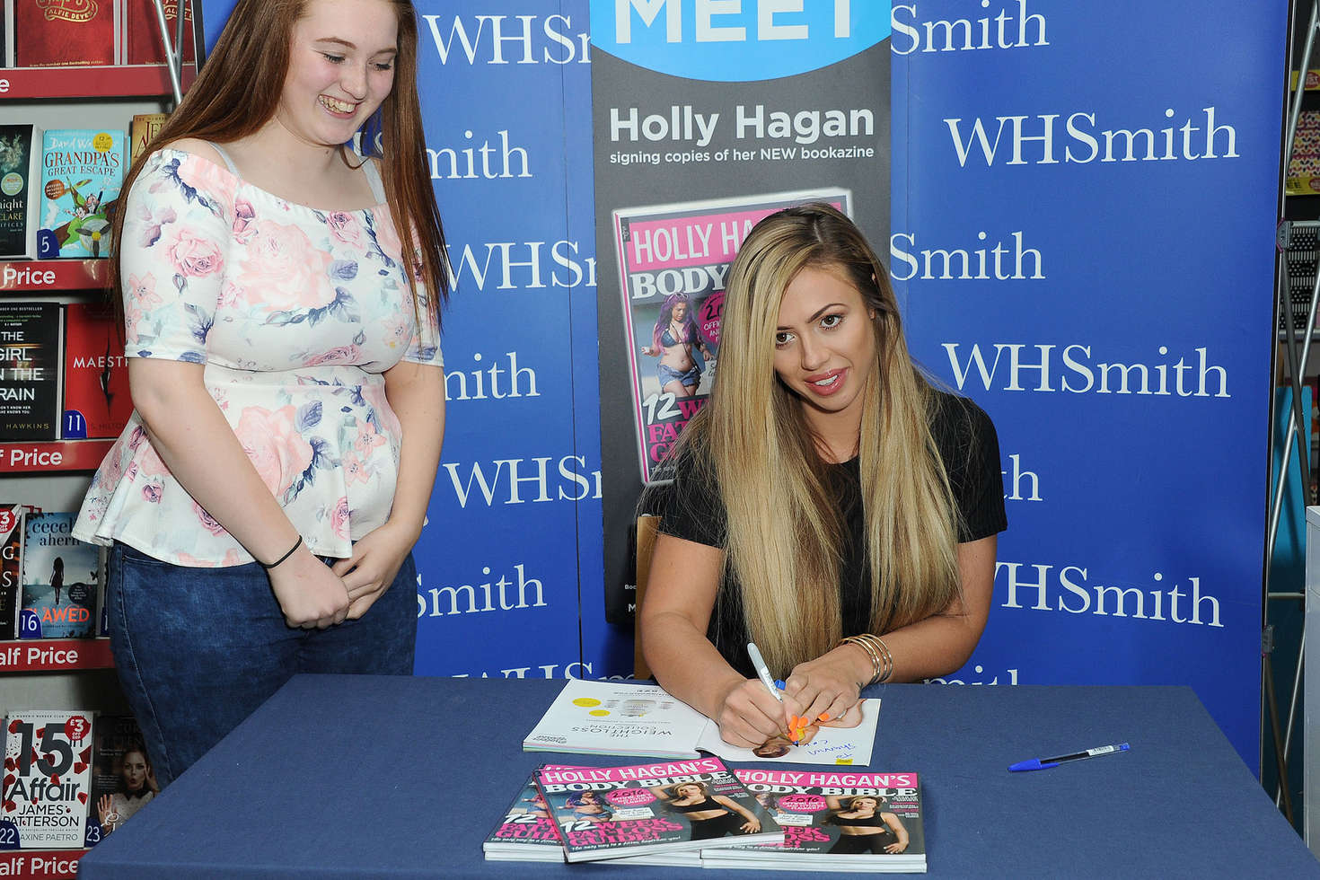 Holly Hagan Signing copies of her latest bookazine in Bexleyheath