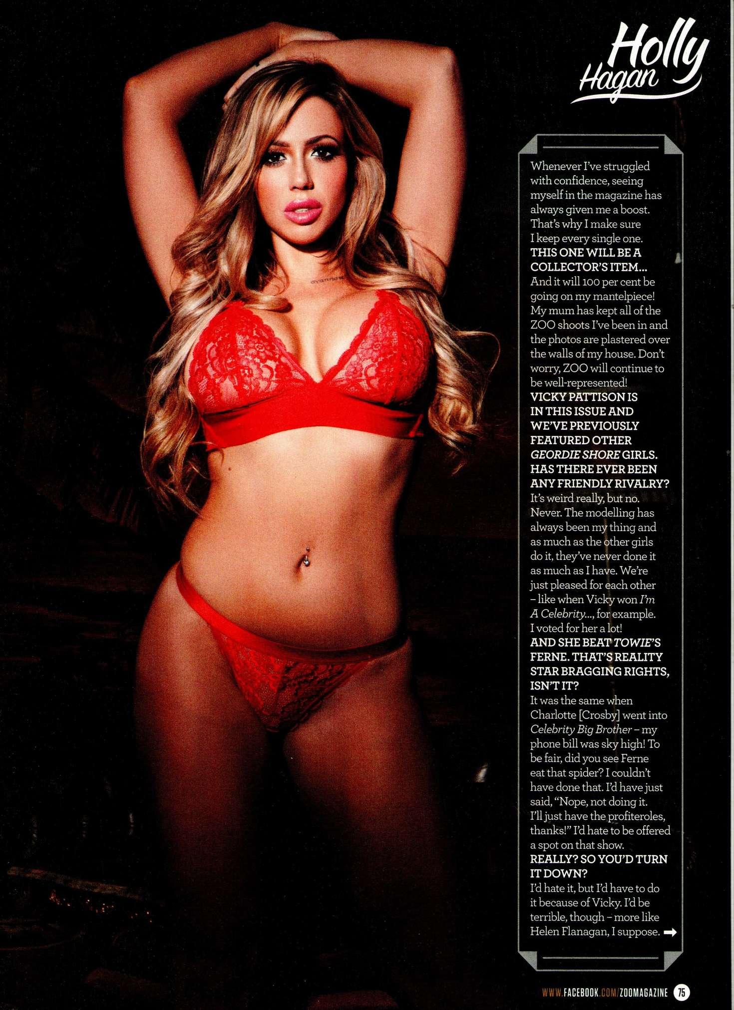 Holly Hagan ZOO Magazine