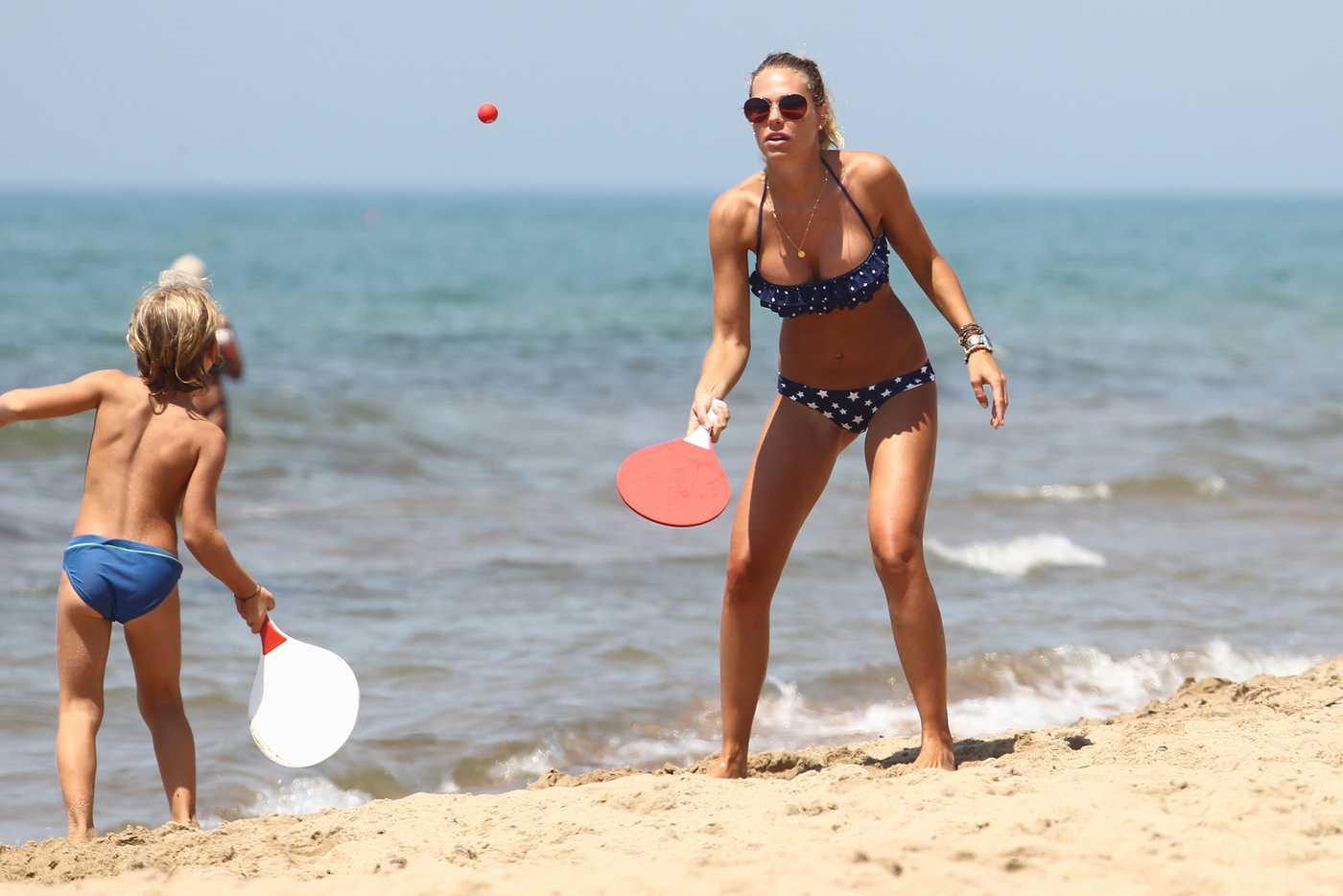 Ilary Blasi New bikini candids in Sabaudia Italy Aug