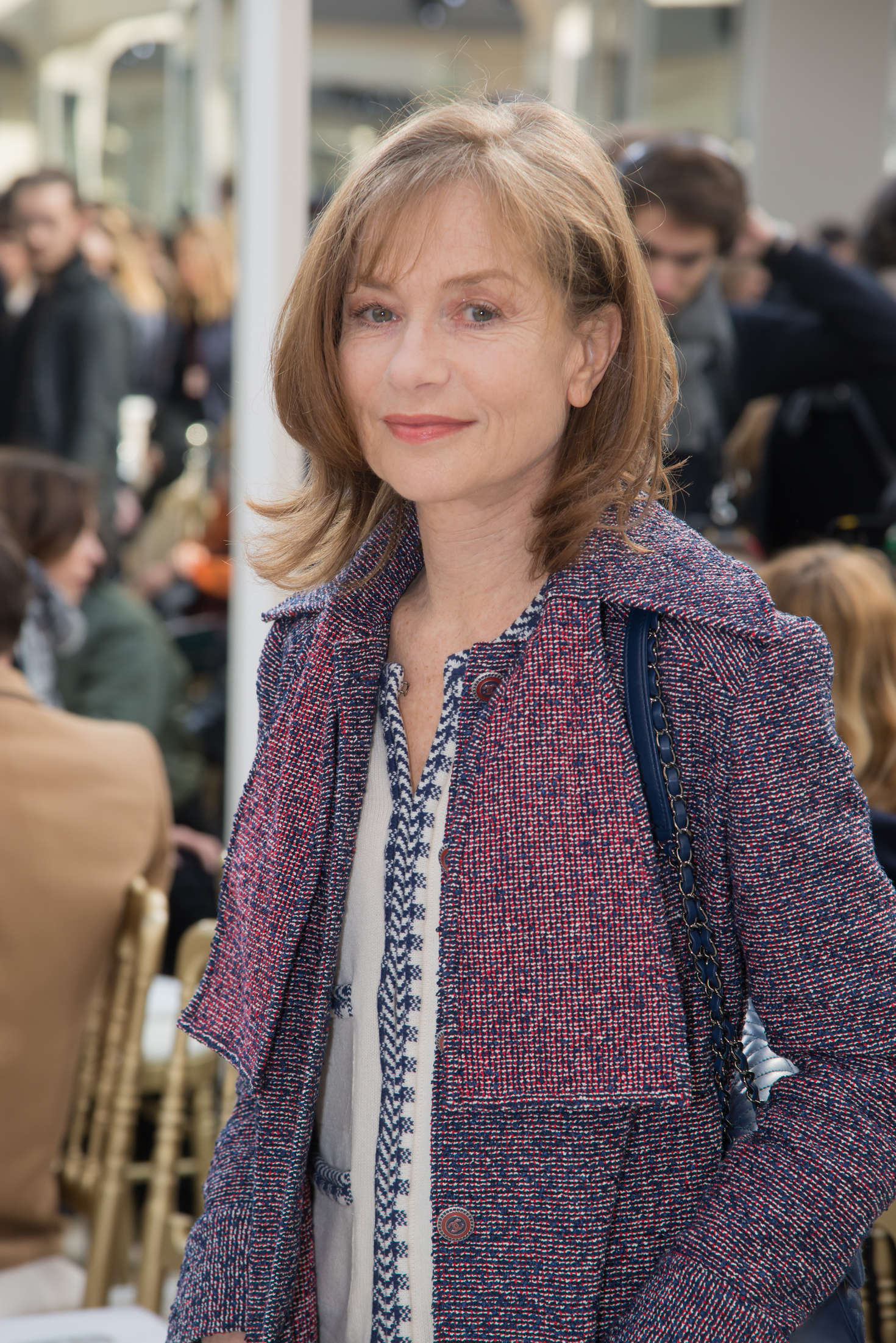 Isabelle Huppert Chanel Fashion Show in Paris