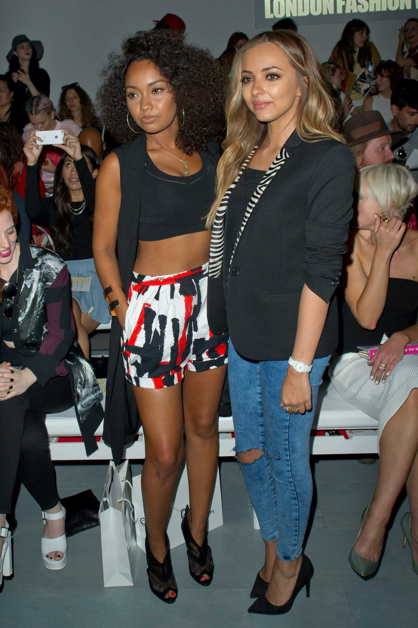 Jade Thirlwall and Leigh Anne Pinnock at Somerset House for Londons Fashion Week