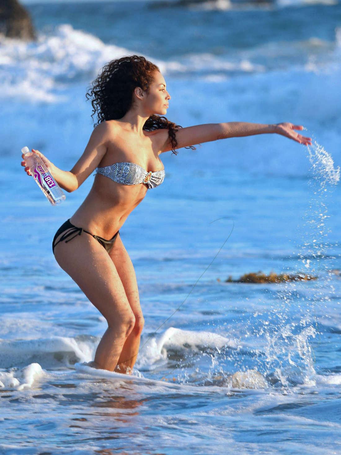 Jadeon Stage Water Bikini Photoshoot in Malibu
