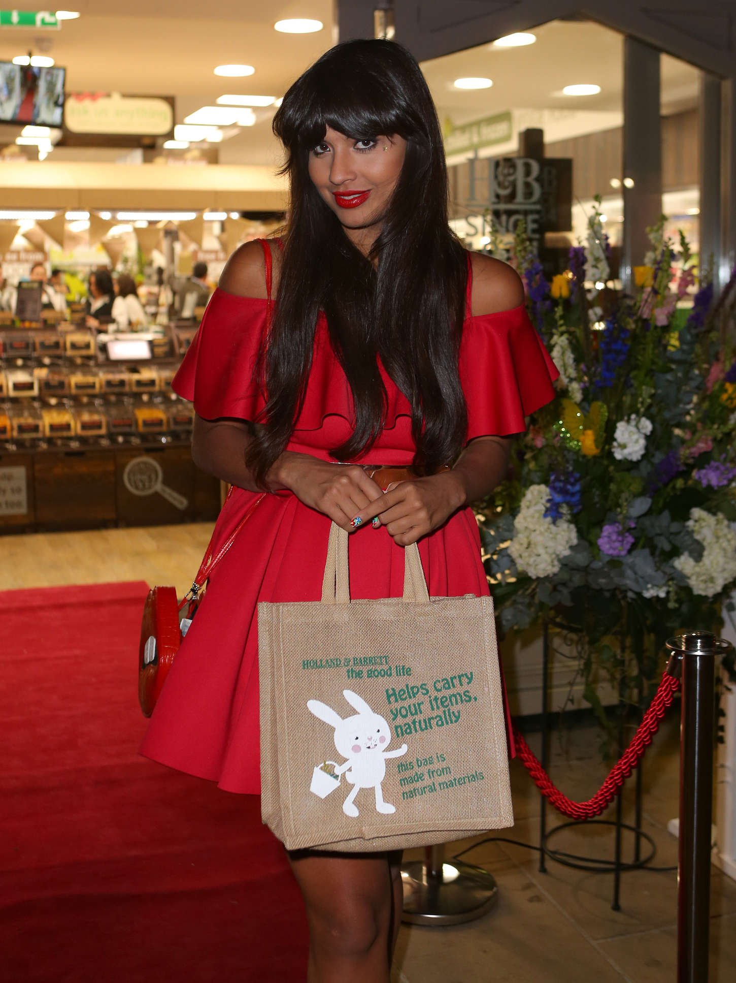 Jameela Jamil Holland Barrett Store Launch Party in Chester
