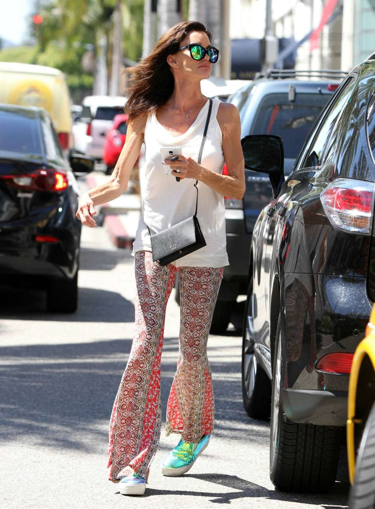 Janice Dickinson go out in Beverly Hills