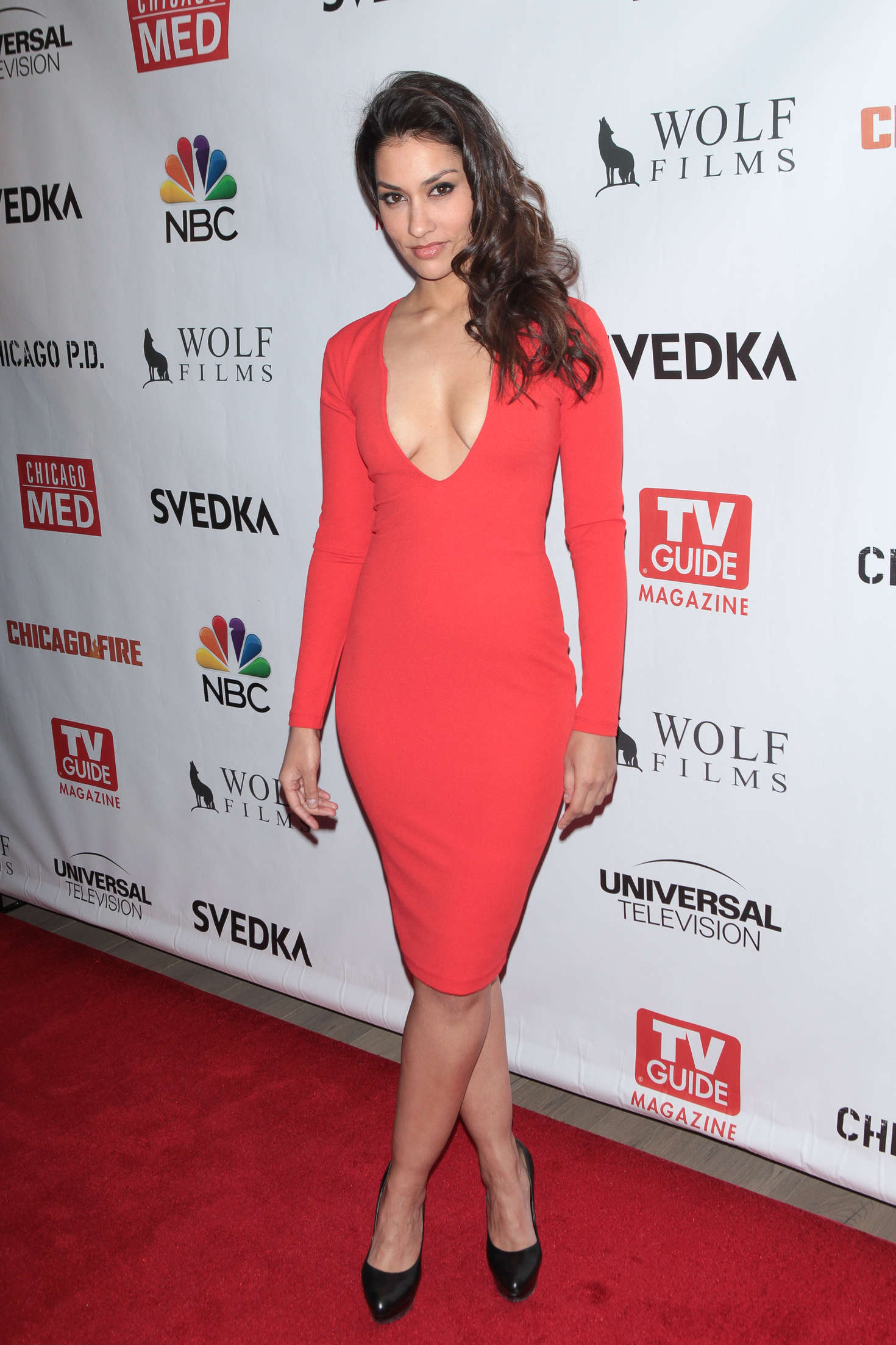 Janina Gavankar Celebrates Dick Wolf Series in New York