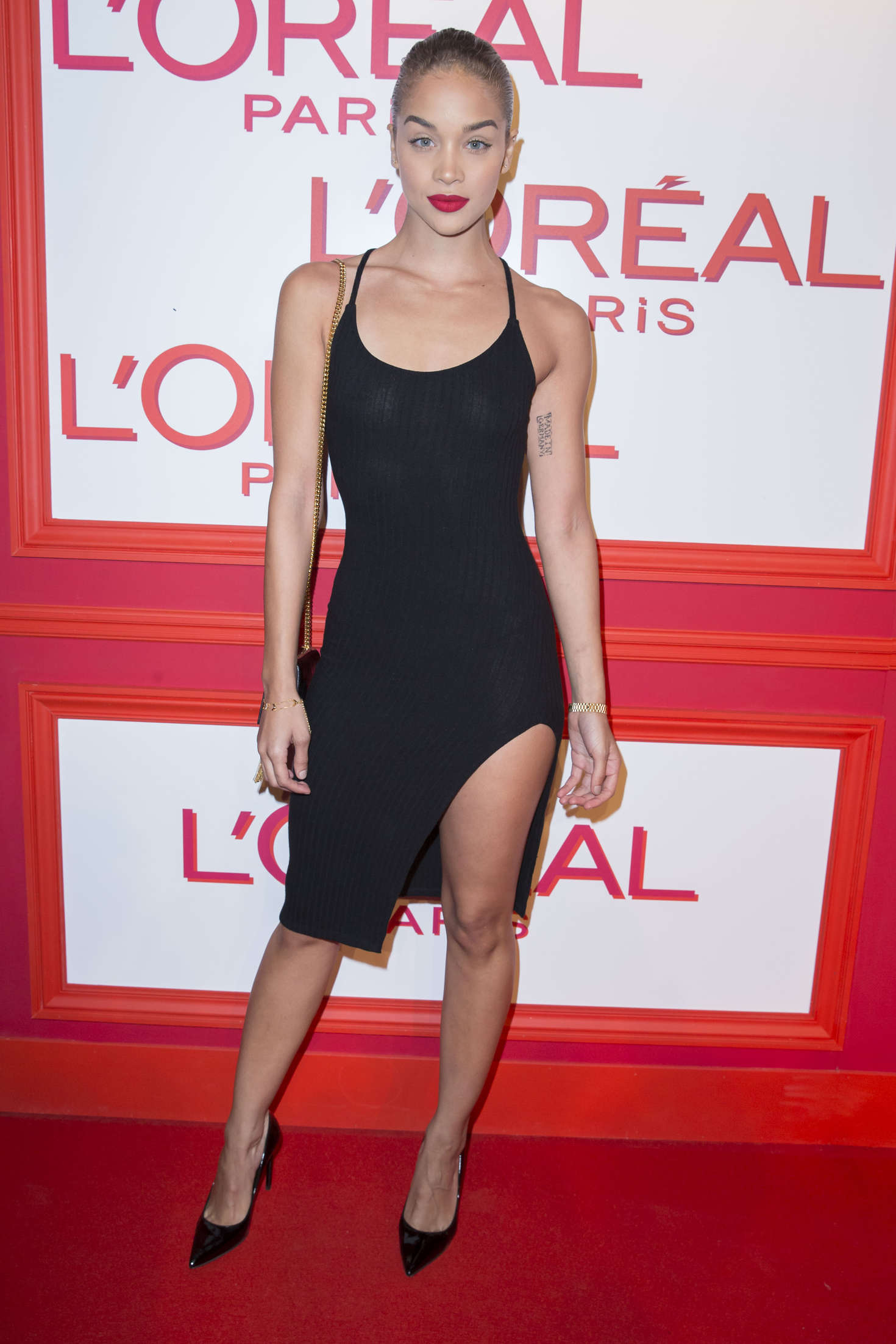 Jasmine Sanders LOreal Red Obsession Party in Paris