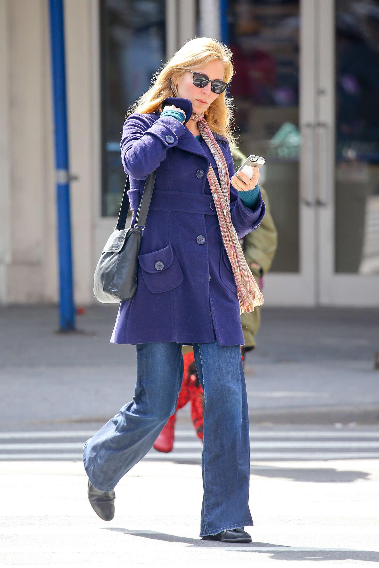 Jennifer Westfeldt in Jeans out for lunch in New York