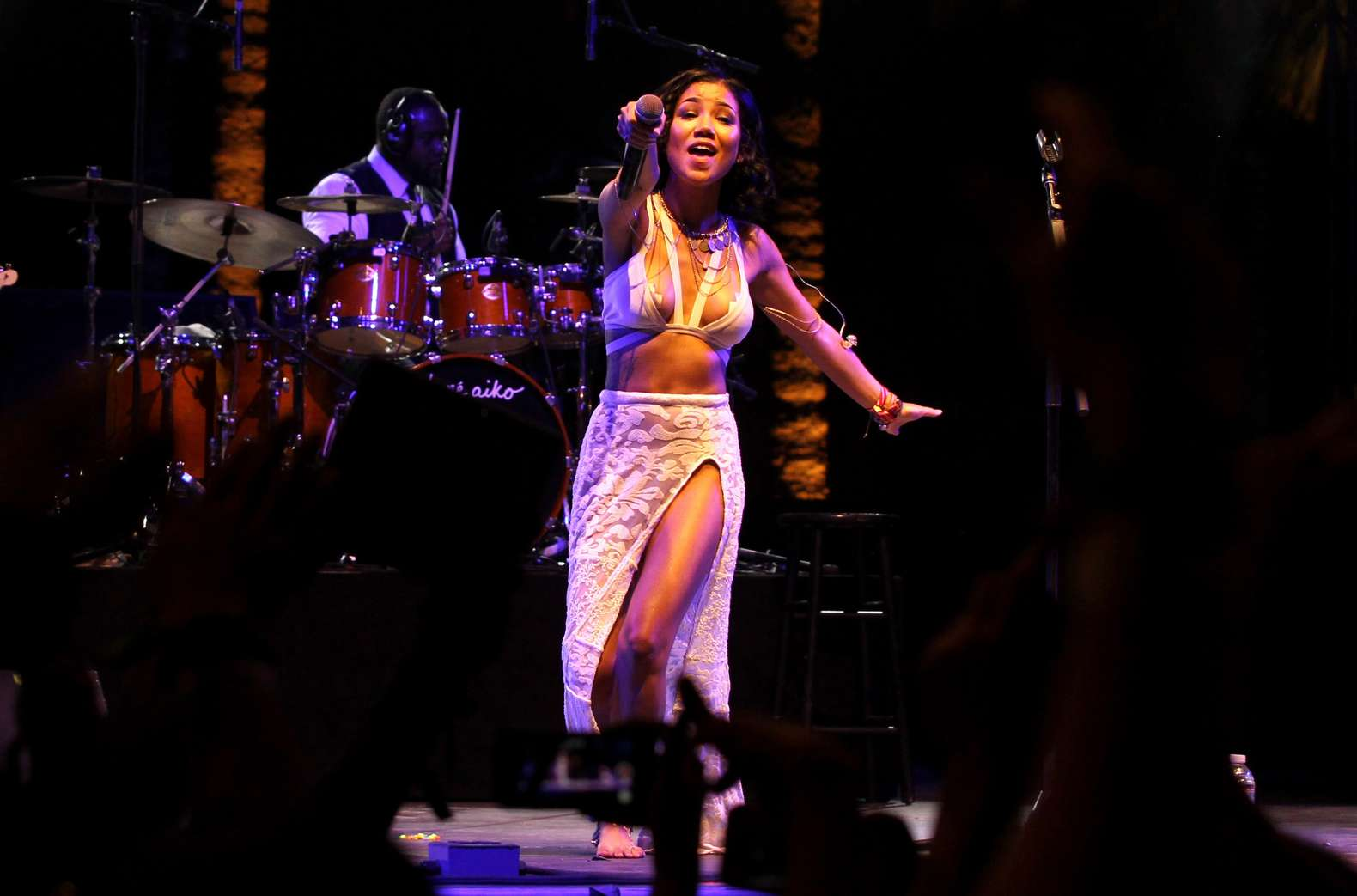 Jhene Aiko Performing at Coachella
