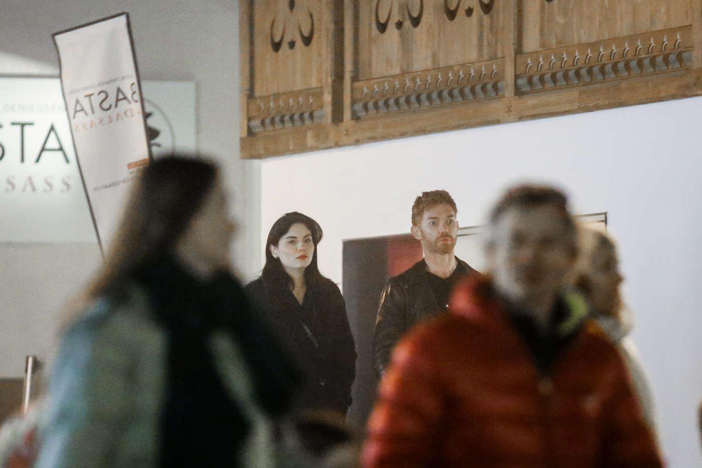 Jodi Lyn OKeefe with her boyfriend Douglas Little in Gstaad