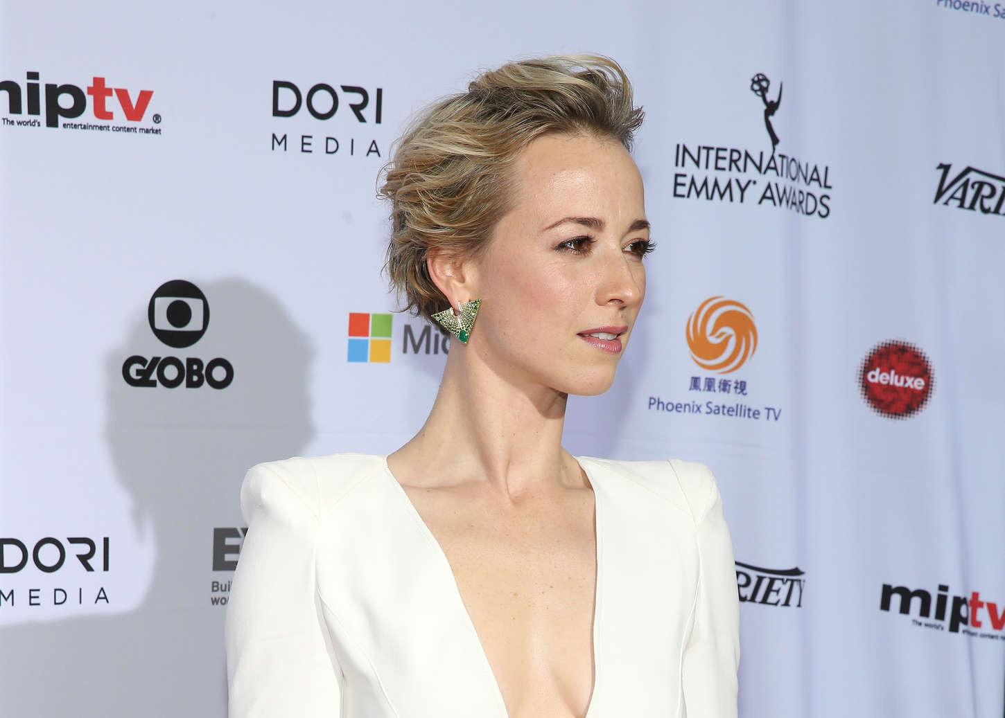 Karine Vanasse International Academy Of Television Arts Sciences Emmy Awards in New York
