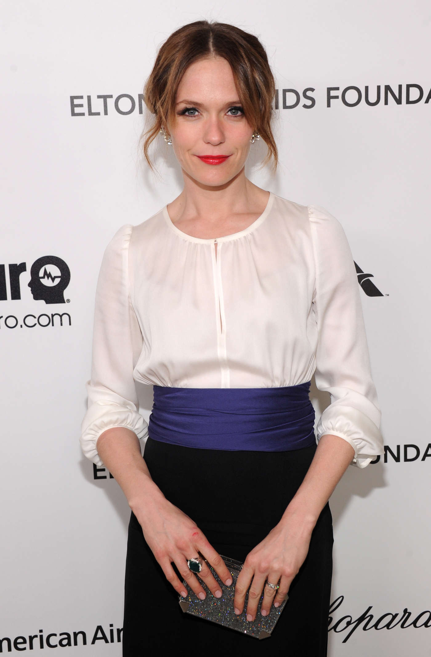 Katie Aselton Oscar Elton John AIDS Foundation Academy Awards Party