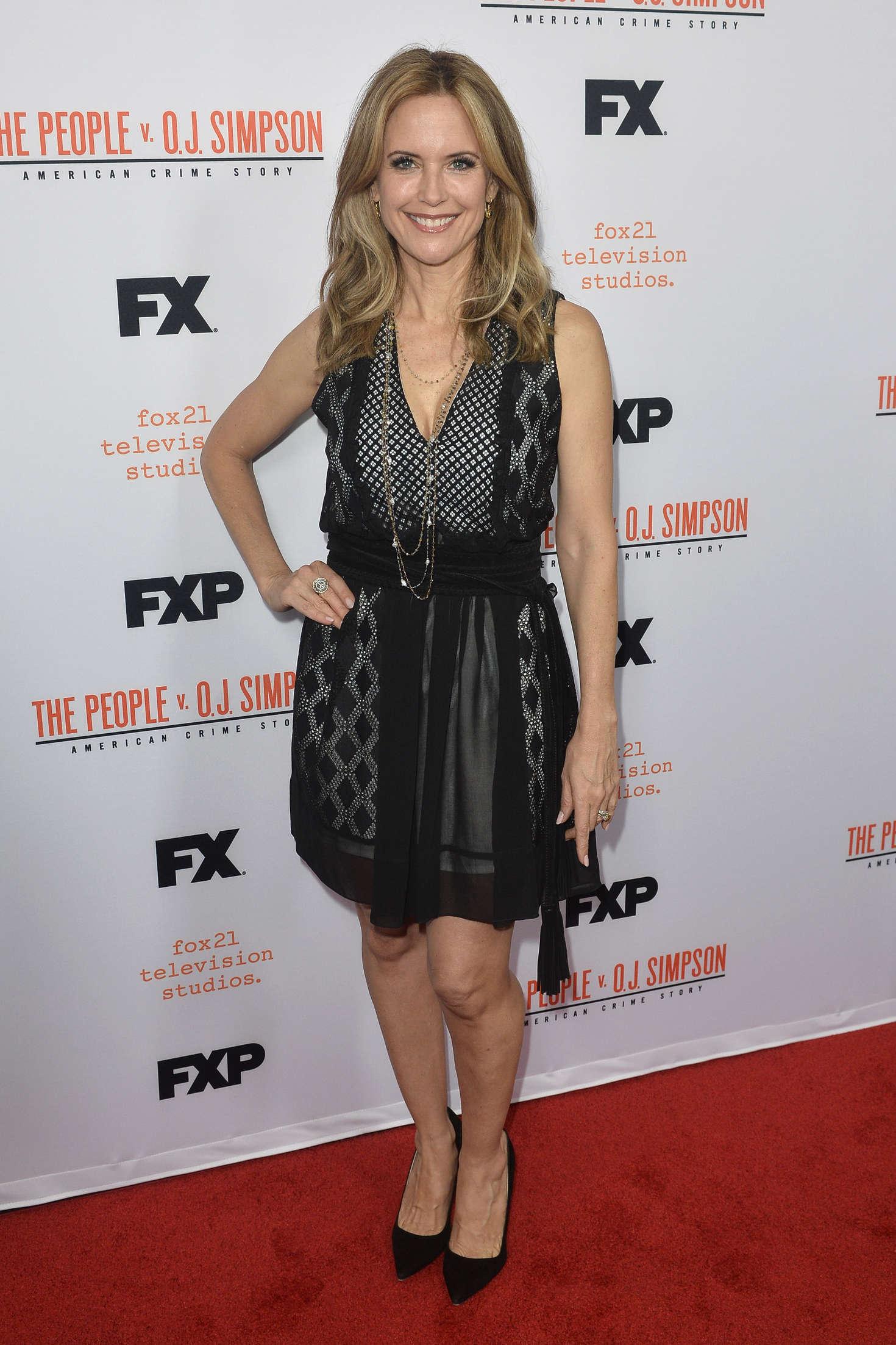 Kelly Preston The People v. OJ Simpson Finale in Los Angeles