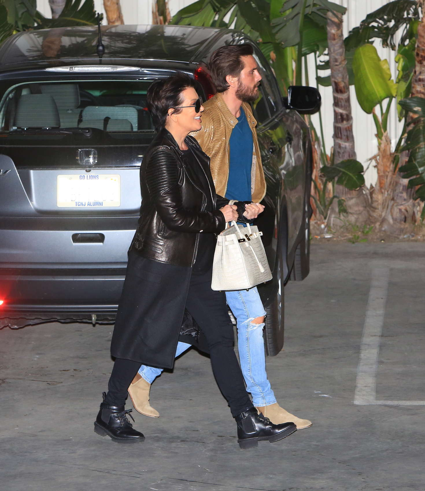 Kris Jenner and Scott Disick Leaving the studio in Hollywood-1