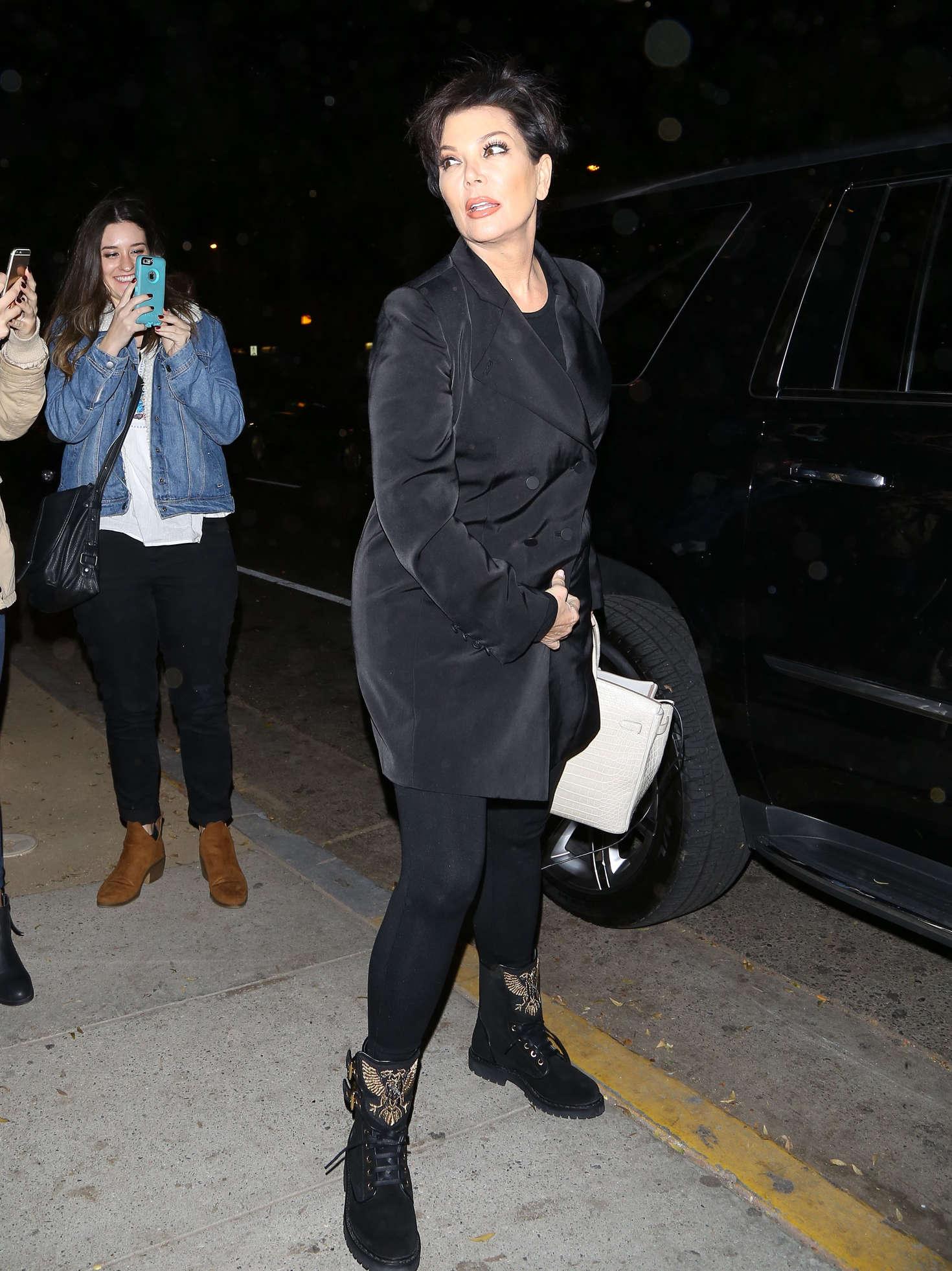 Kris Jenner at a party in Hollywood-1