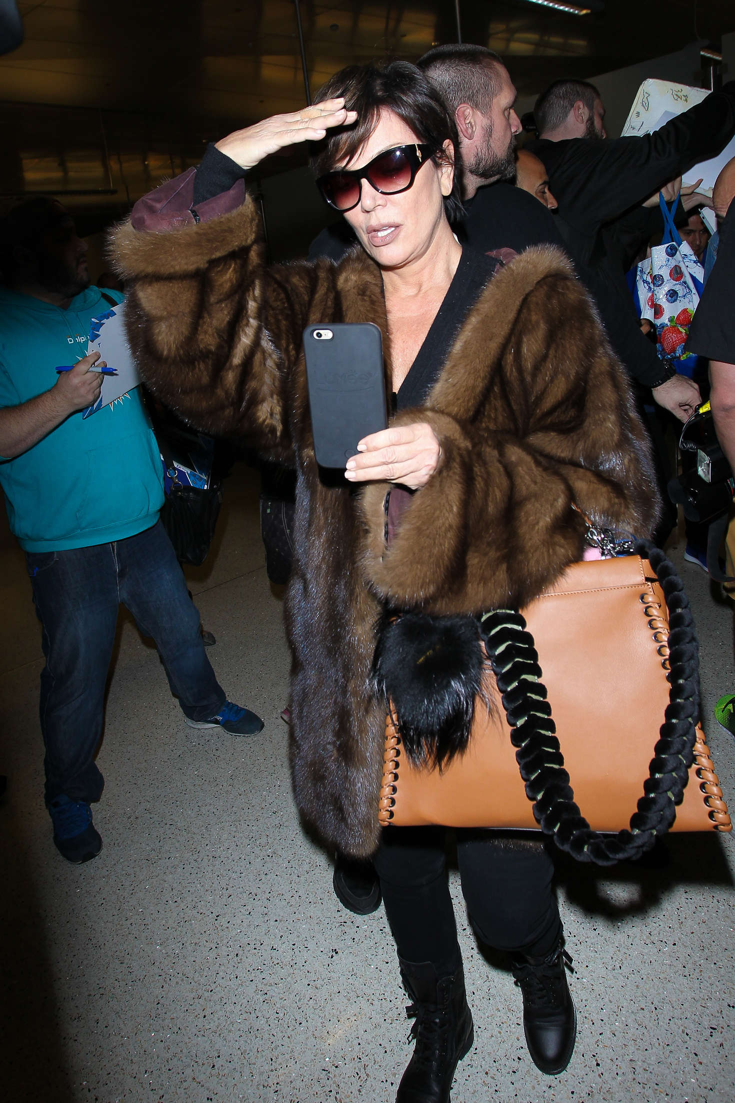Kris Jenner at LAX Airport in Los Angeles-1