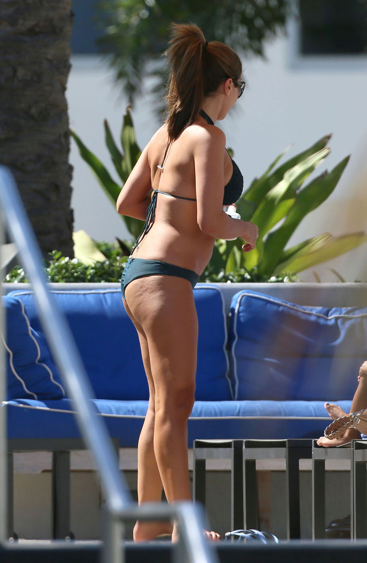 Larsa Pippen Bikini Candids at a Pool in Miami
