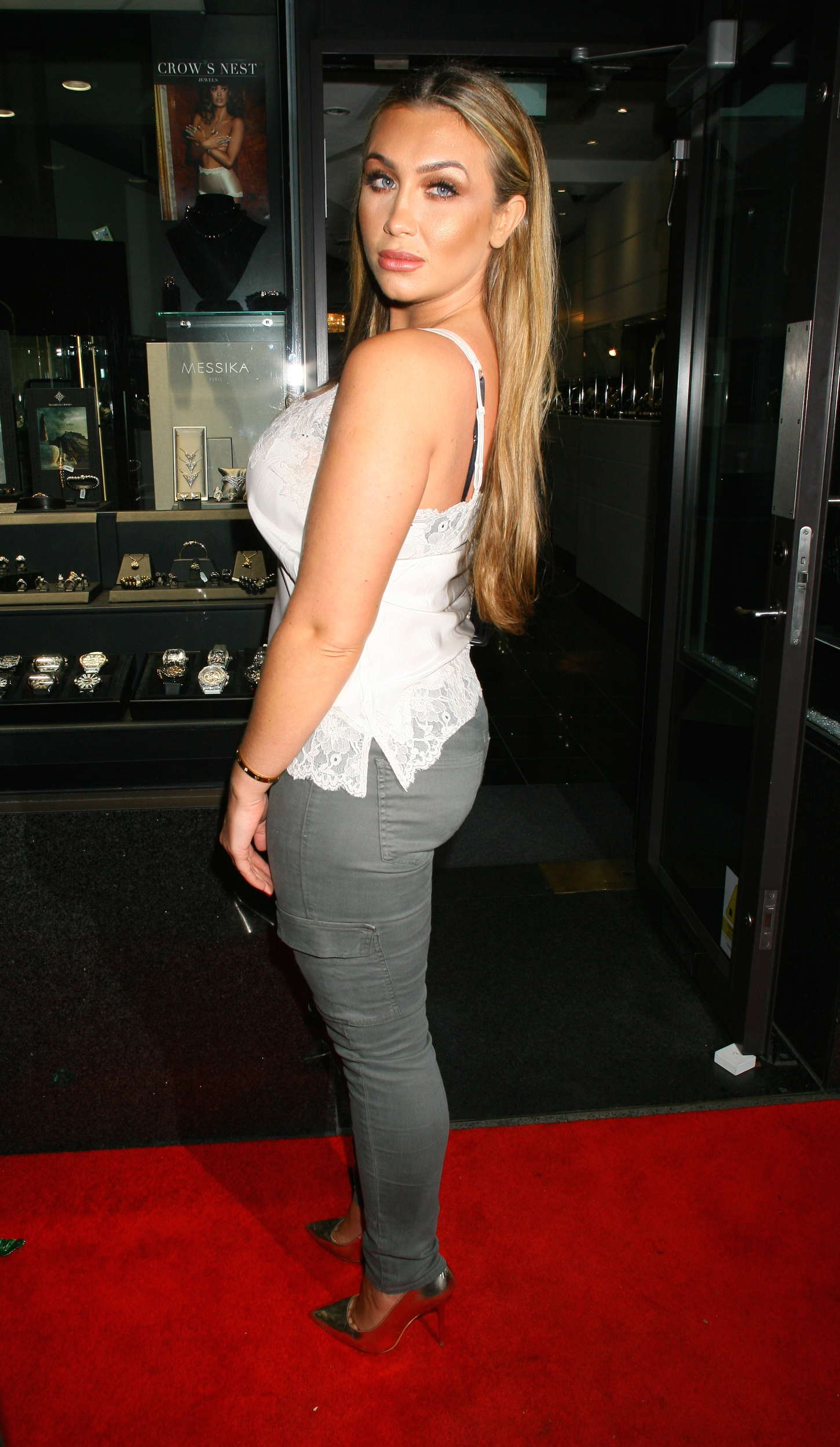 Lauren Goodger at David Hayes PT Club in London