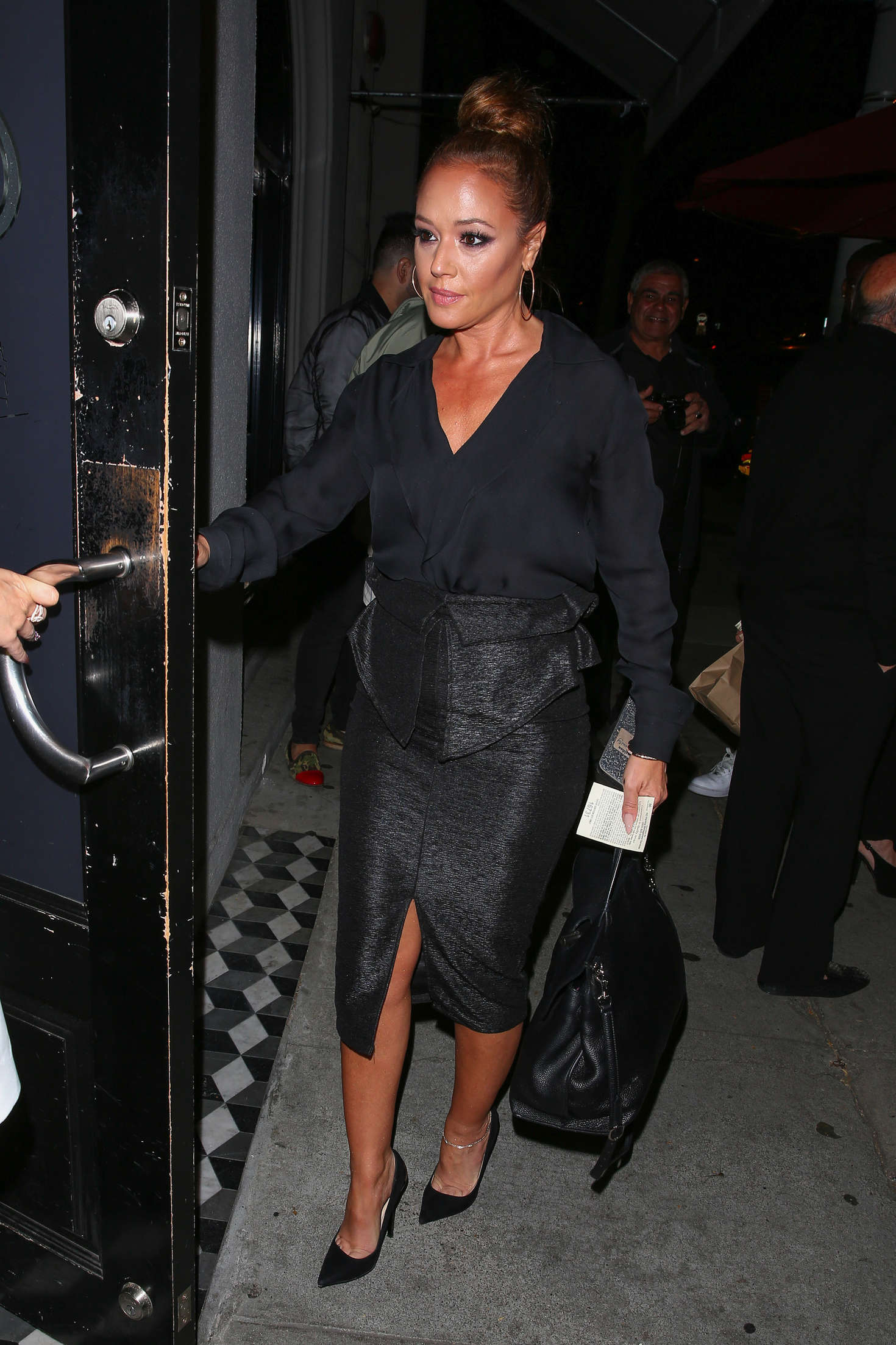 Leah Remini Arriving at Craigs in West Hollywood