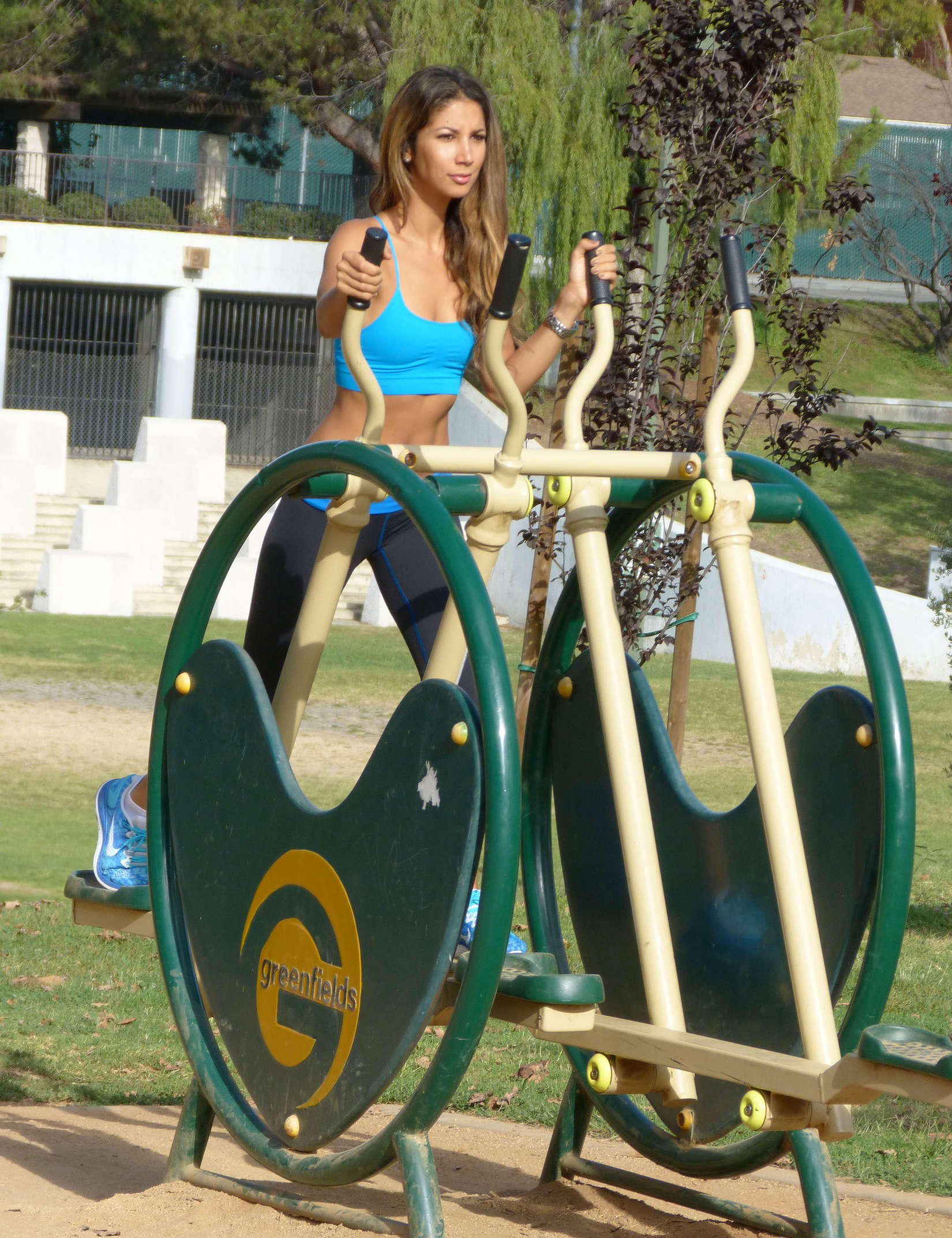 Leilani Dowding at Pan Pacific Park in West Hollywood