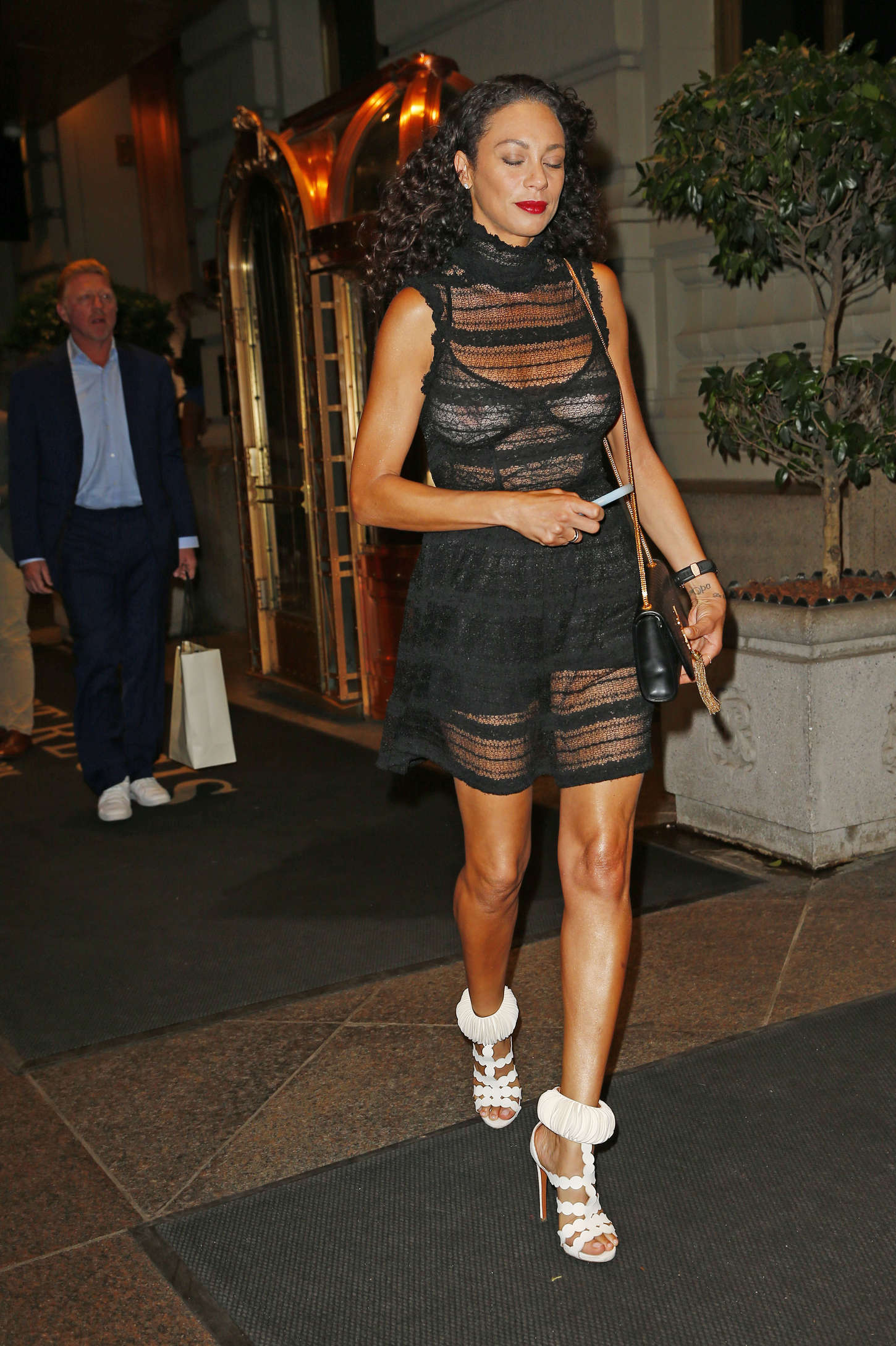 Lilly Becker out to dinner in New York
