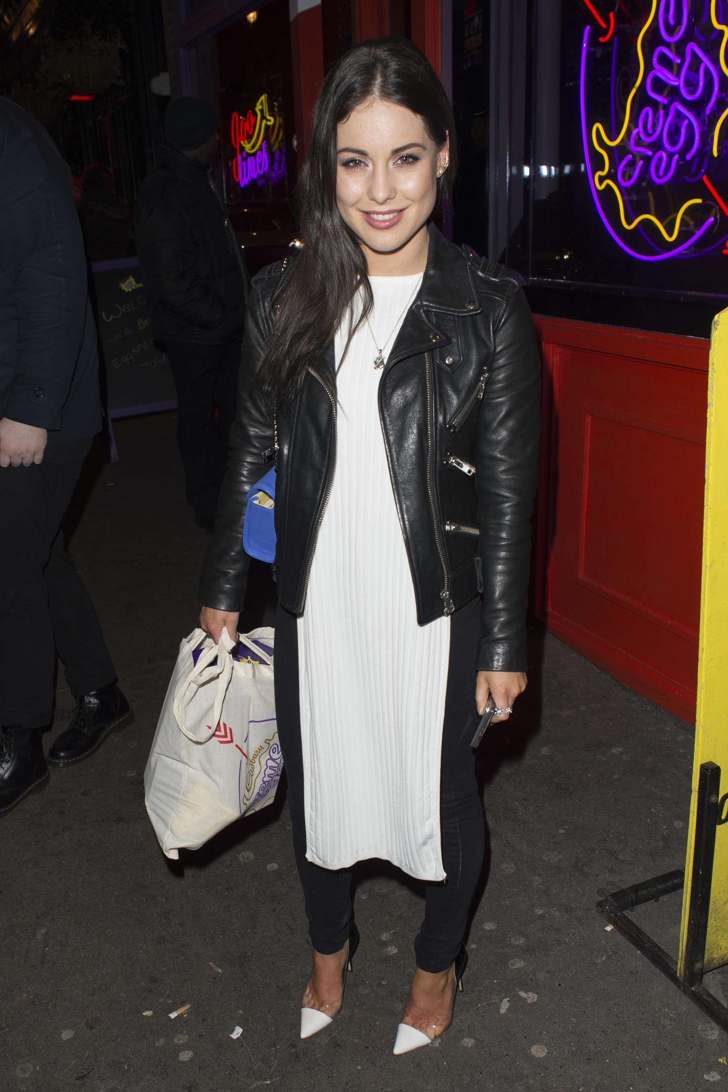 Louise Thompson Creme Egg Cafe Launch Night in Soho