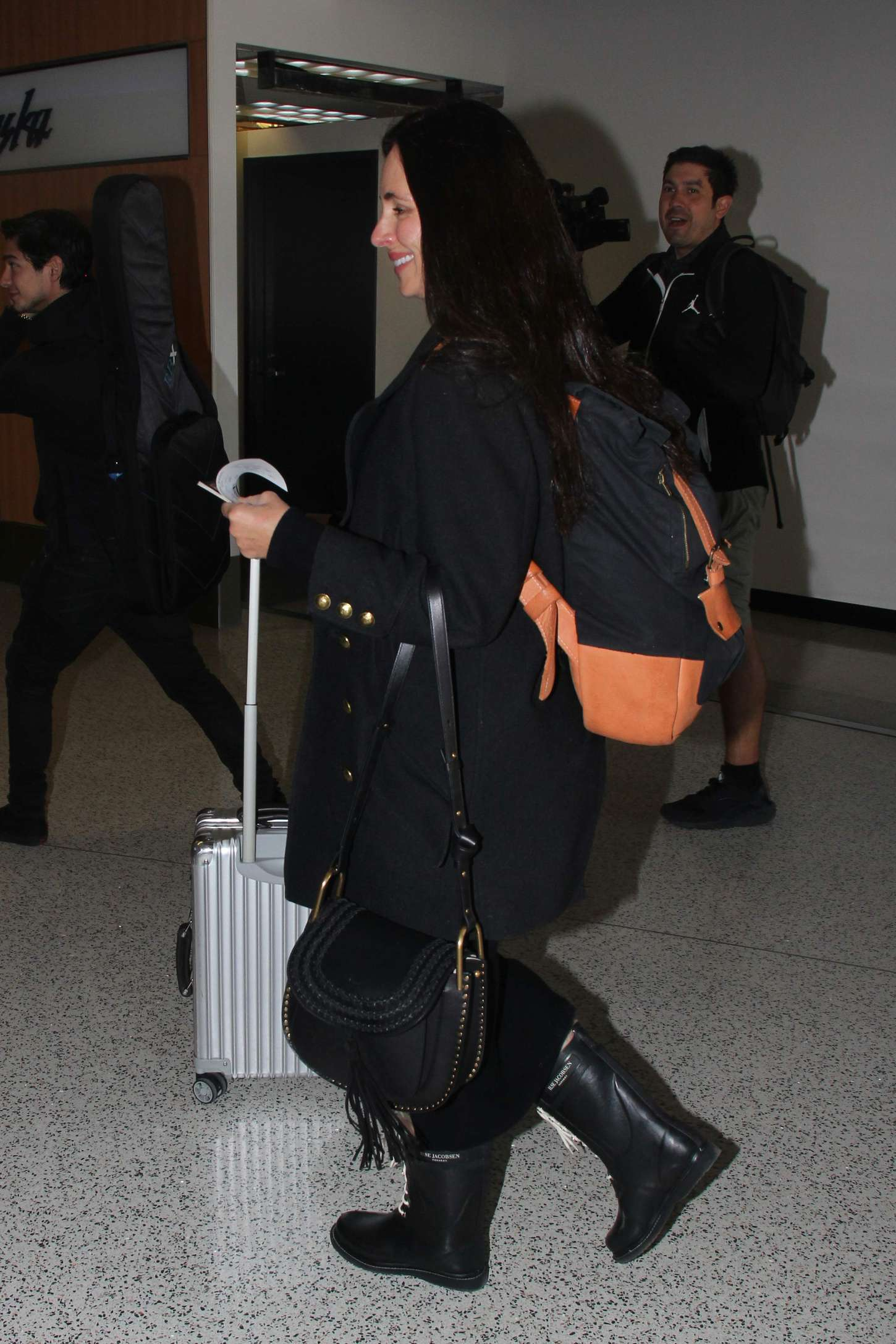 Madeleine Stowe Arrives at LAX Airport in Los Angeles