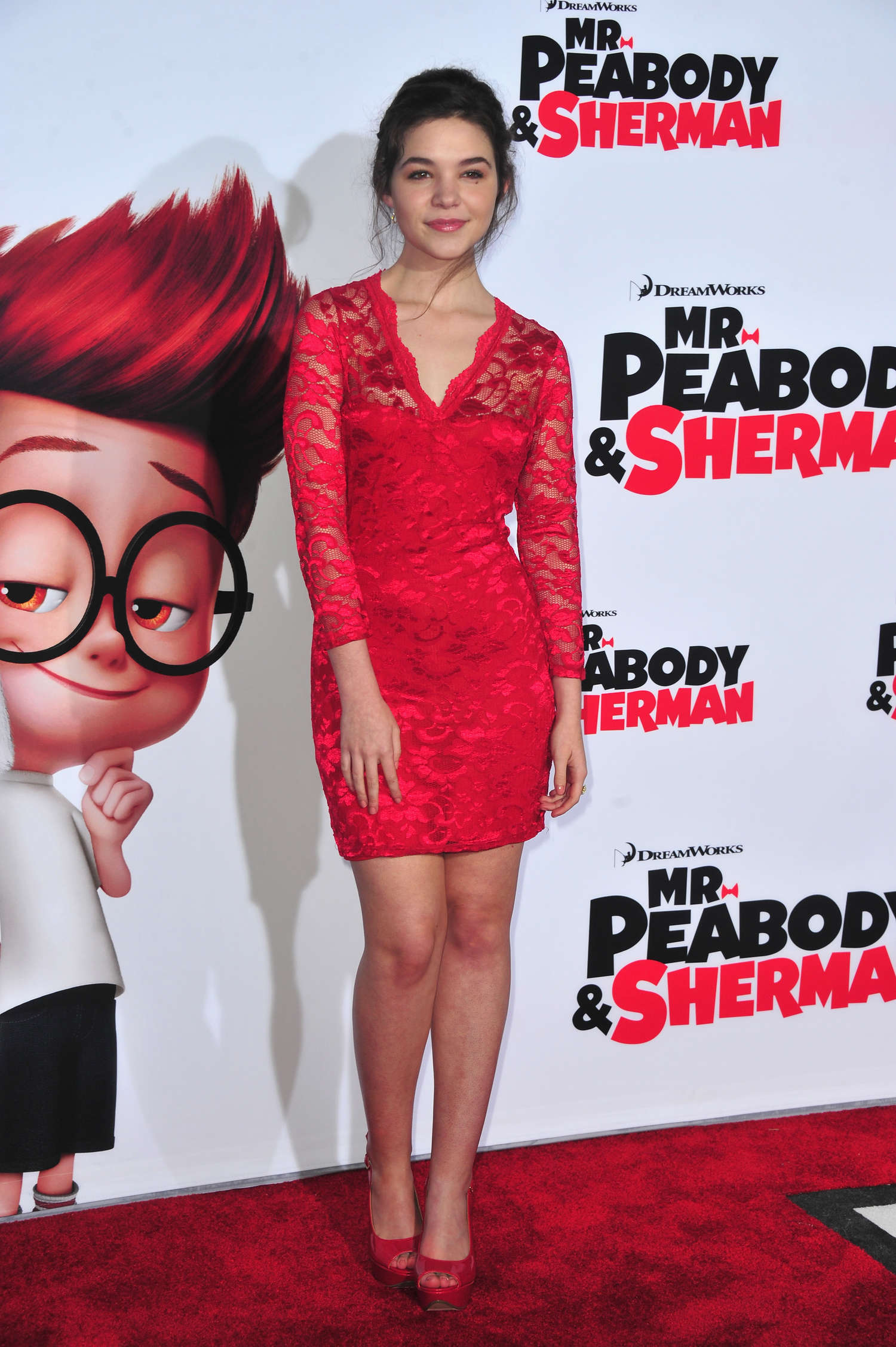 Madison McLaughlin Mr Peabody Sherman Premiere in Los Angeles