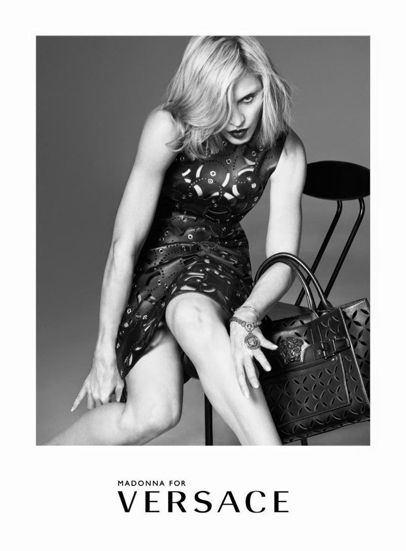 Madonna Versace Spring Ad Campaign