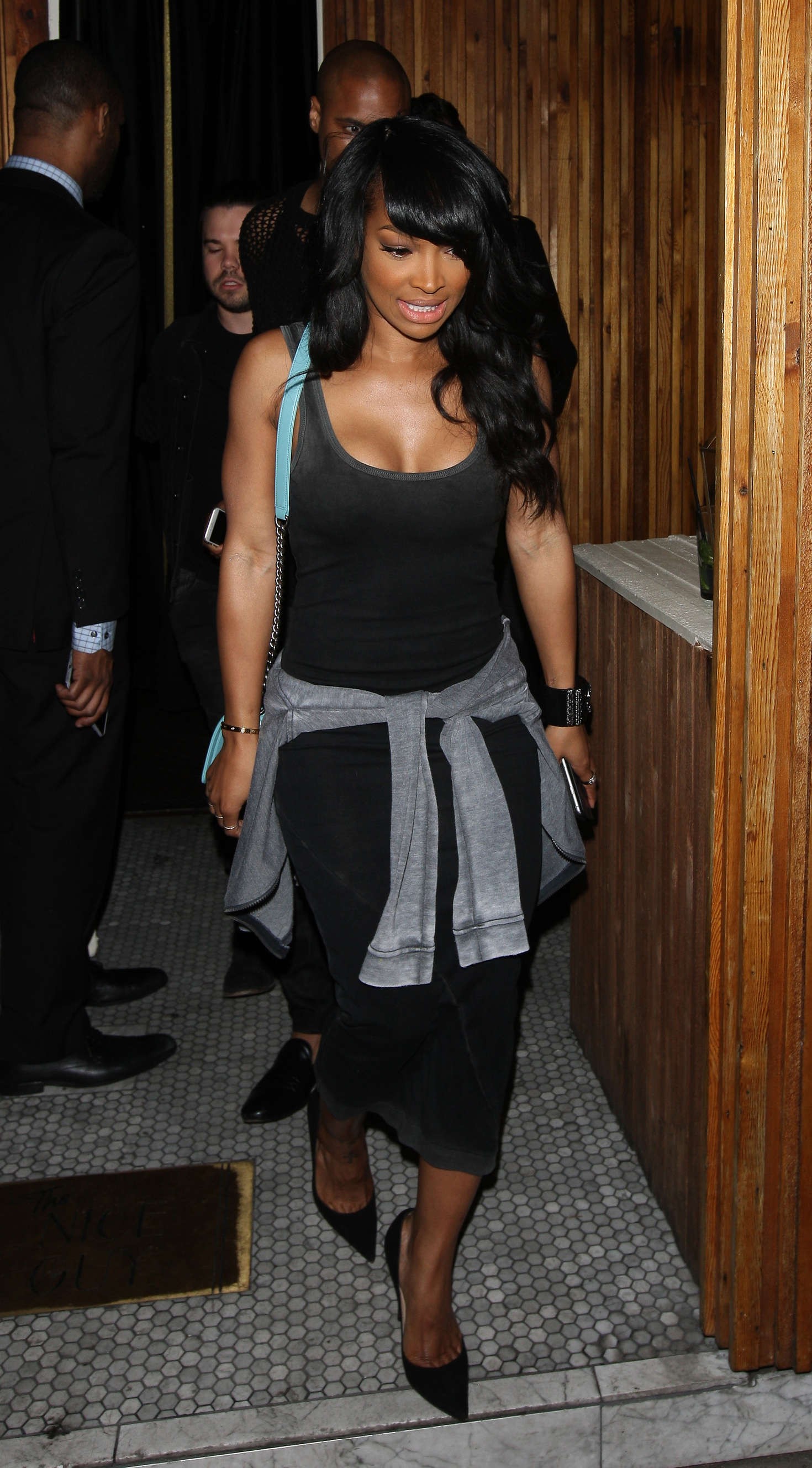 Malika Haqq Leaves The Nice Guy Club in West Hollywood