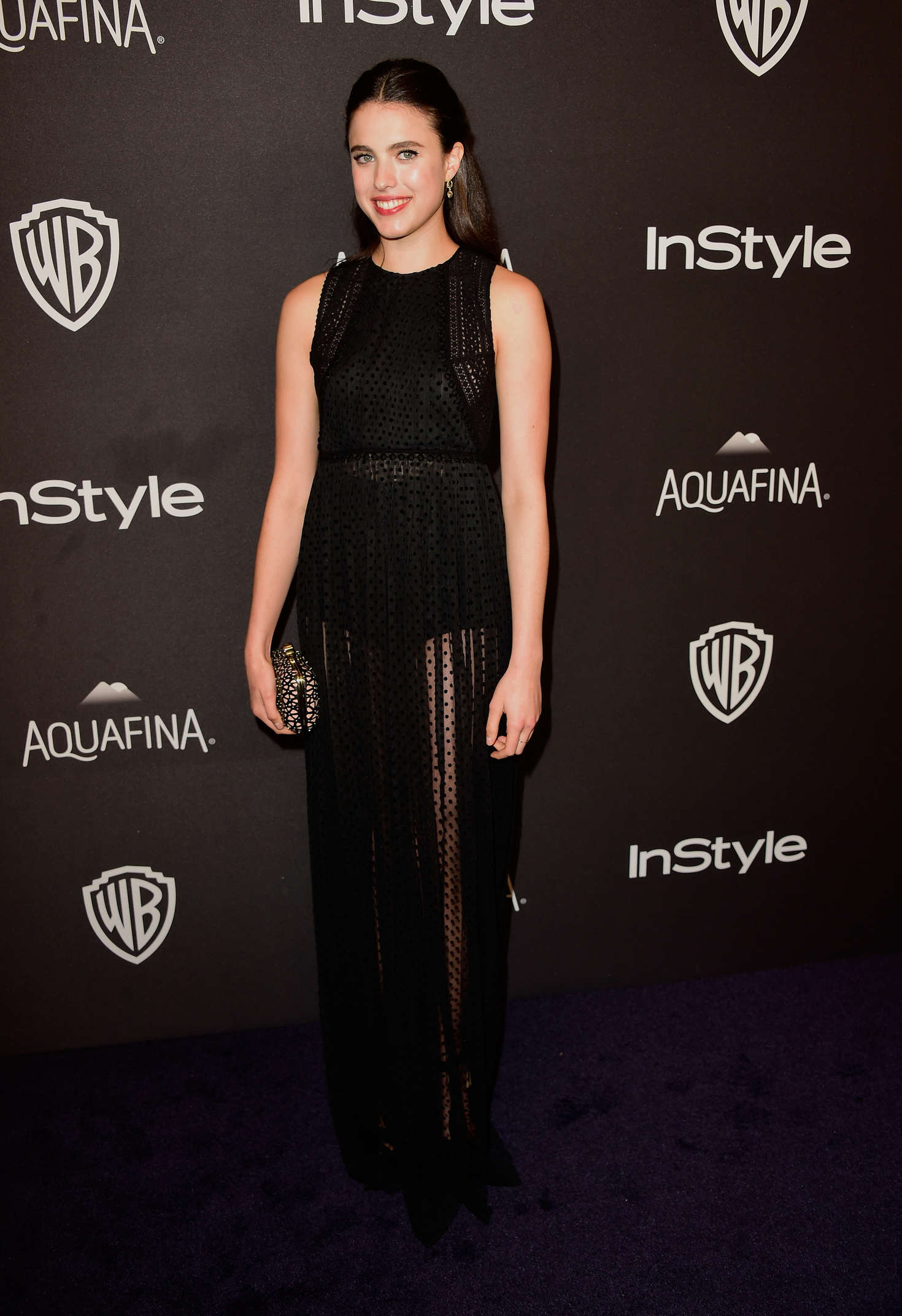 Margaret Qualley InStyle and Warner Bros Golden Globe Awards Post-Party in Beverly Hills