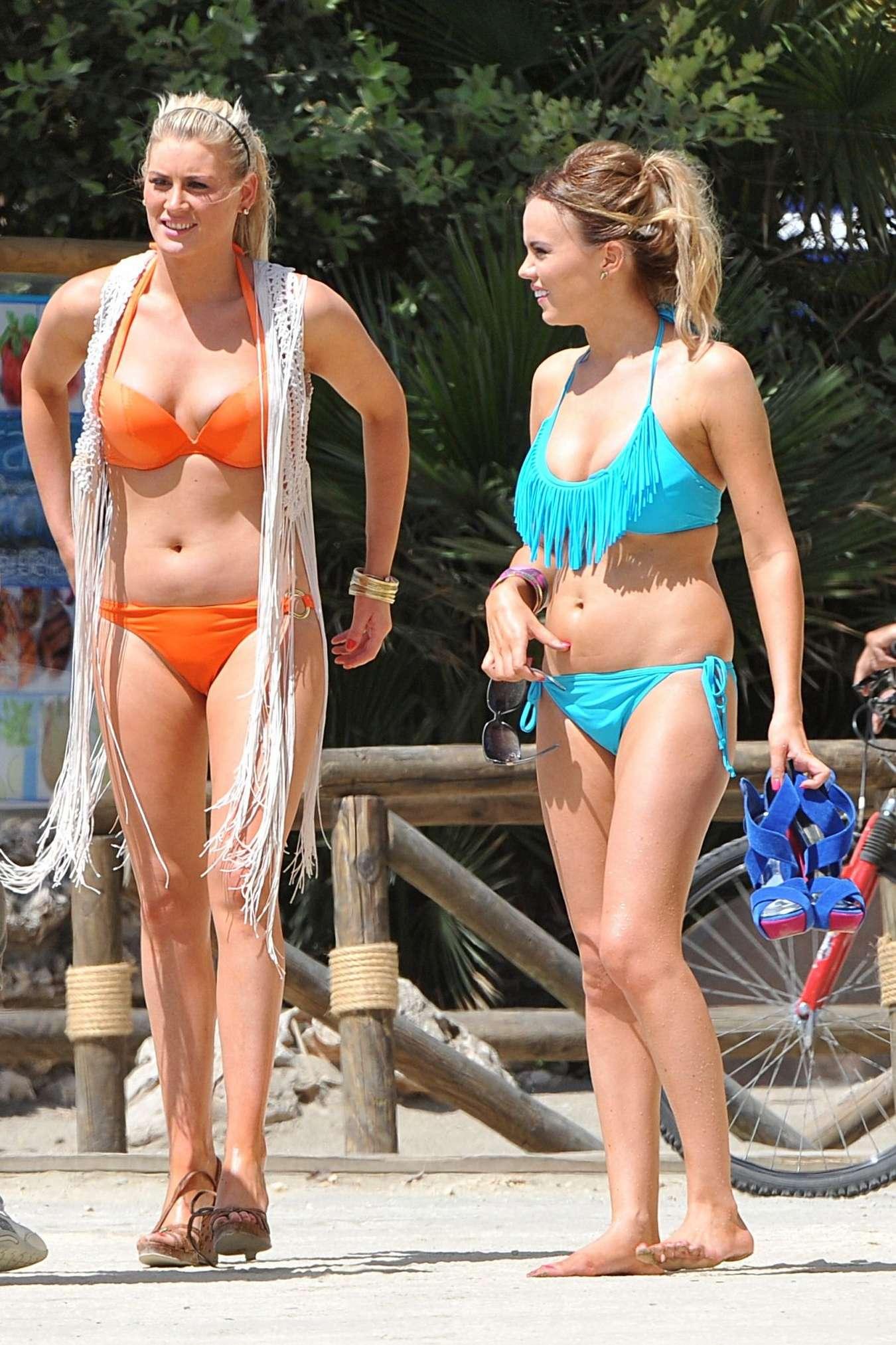 Maria Fowler Bikini Candids in Marbella