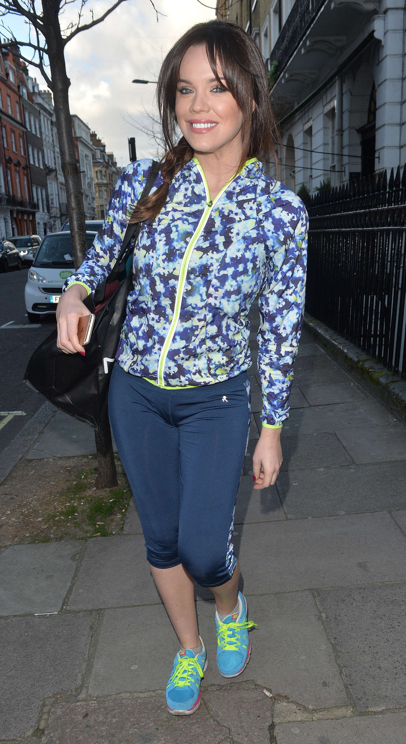 Maria Fowler in Leggings Out in London