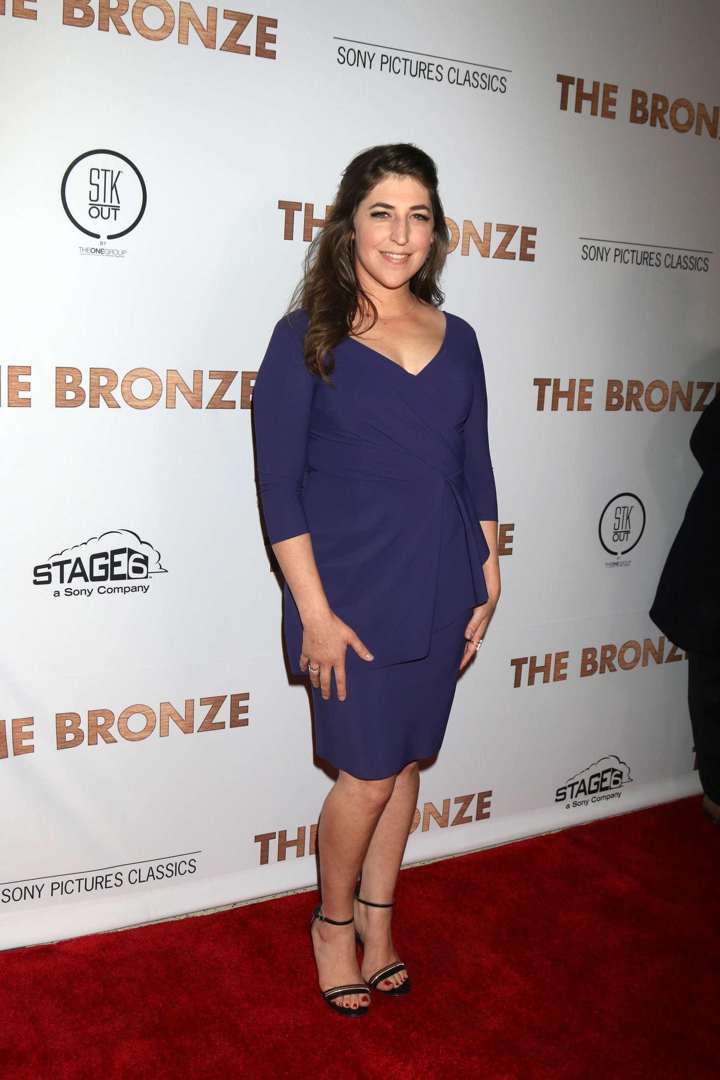 Mayim Bialik The Bronze Premiere in Los Angeles