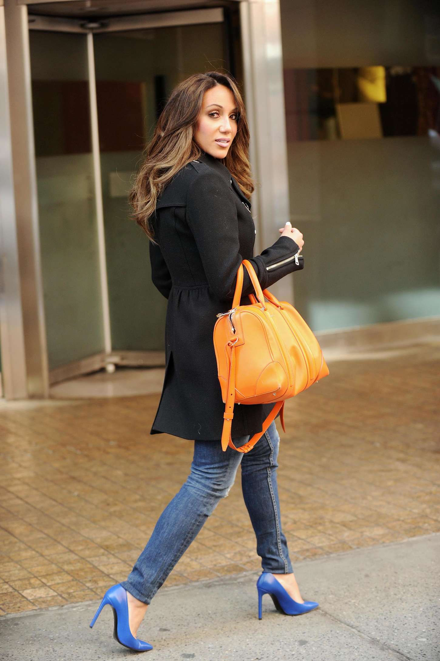 Melissa Gorga in Jeans go out in New York