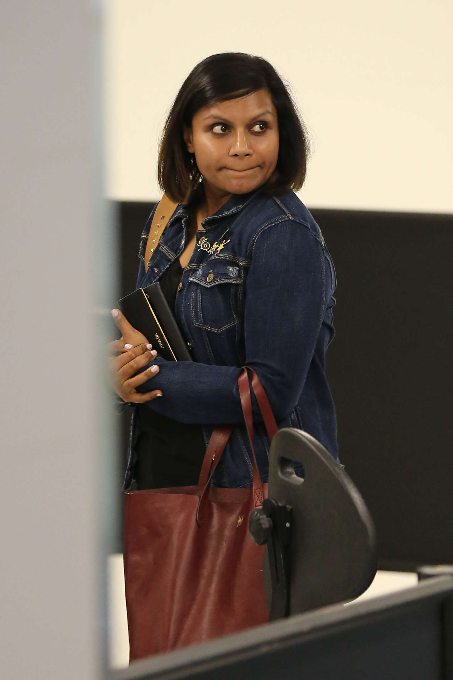 Mindy Kaling LAX airport in Los Angeles