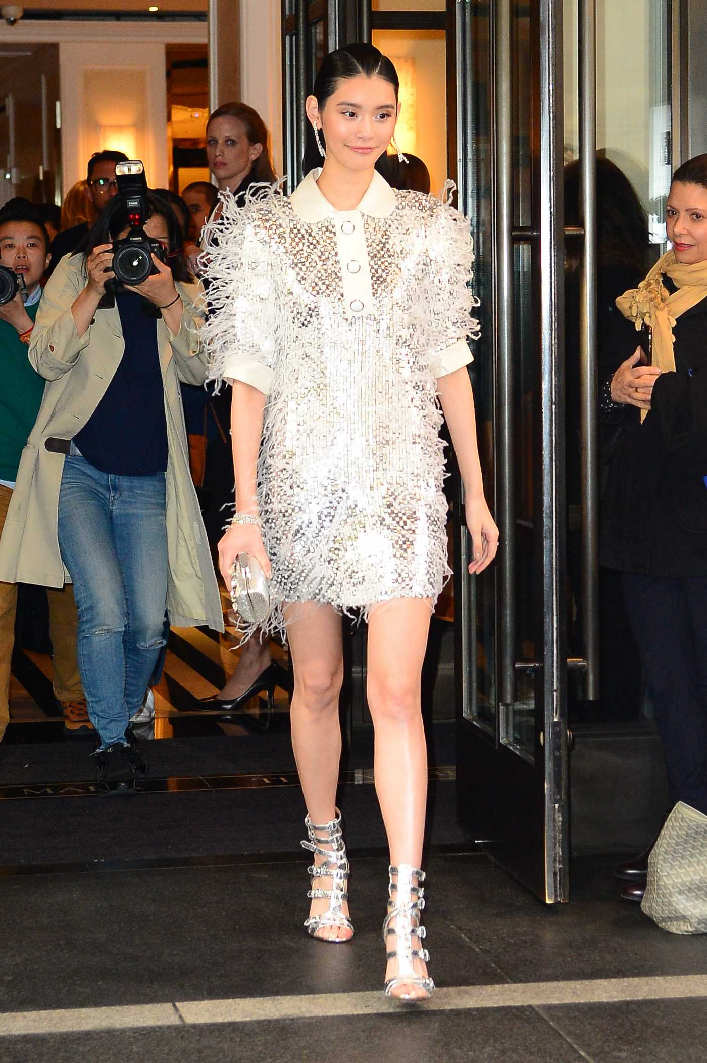 Ming Xi Arriving at Met Gala in New York