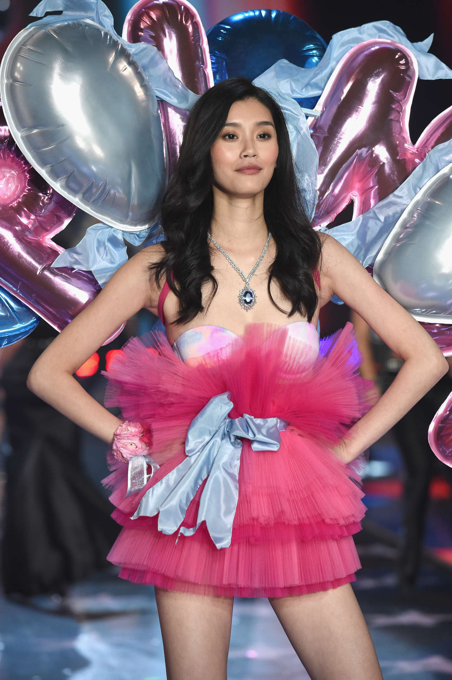 Ming Xi Victorias Secret Fashion Show Runway in New York