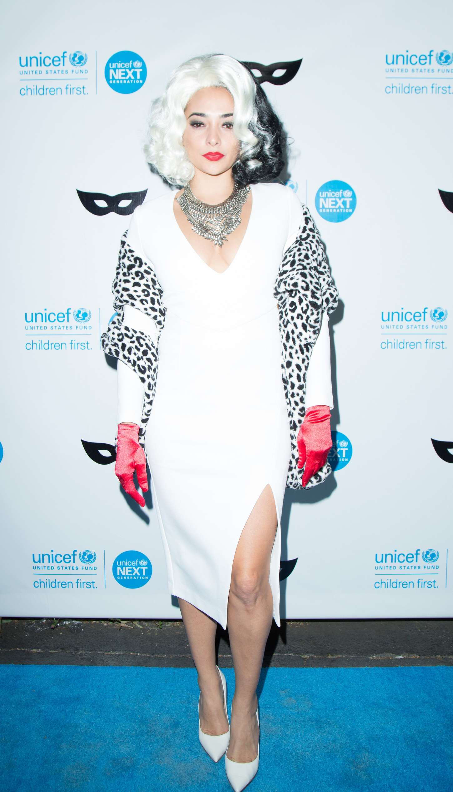 Natalie Martinez UNICEF Black White Masquerade Ball in Los Angeles
