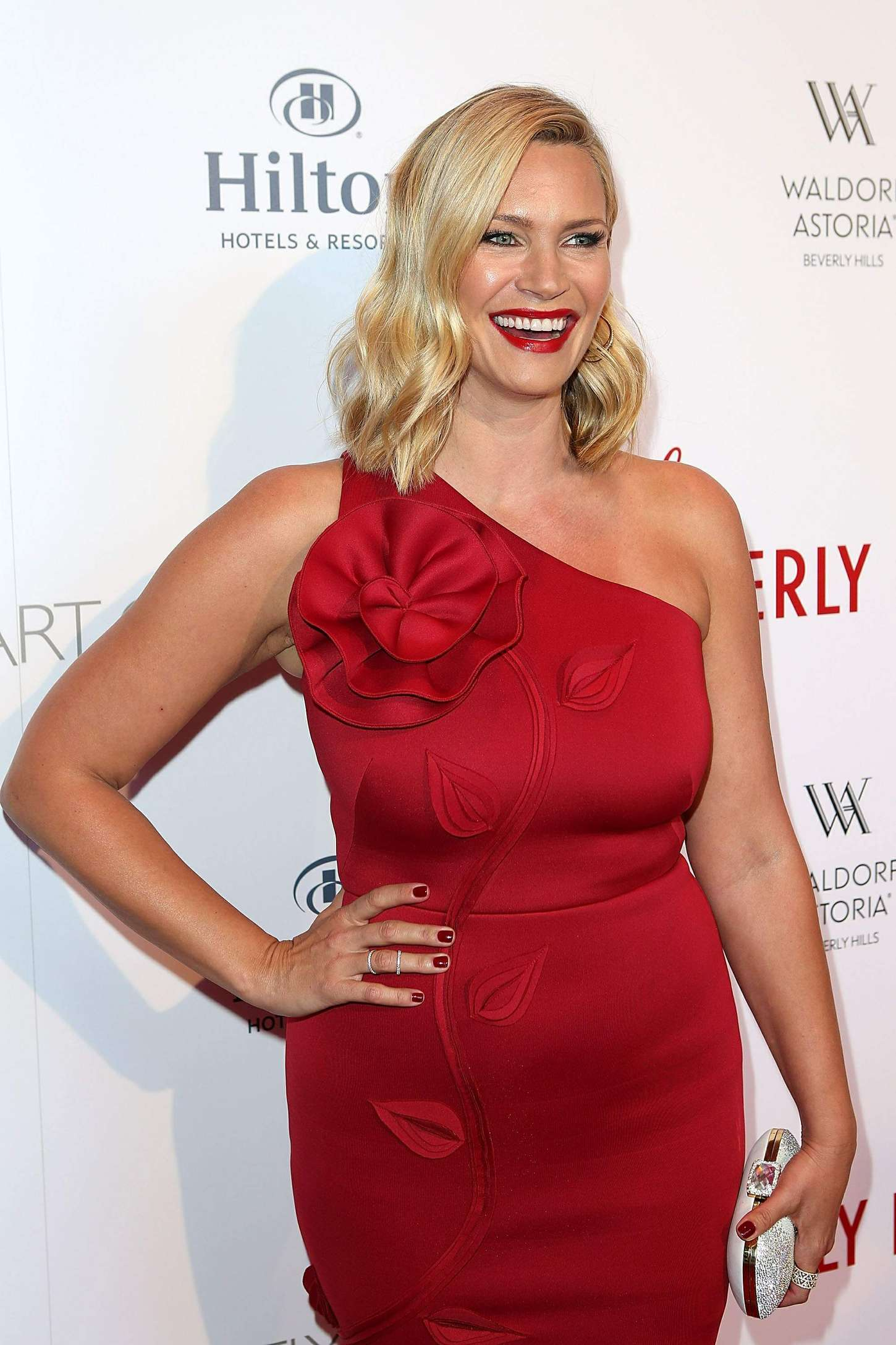 Natasha Henstridge The Beverly Hilton Celebrates Years with a Diamond Anniversary Party