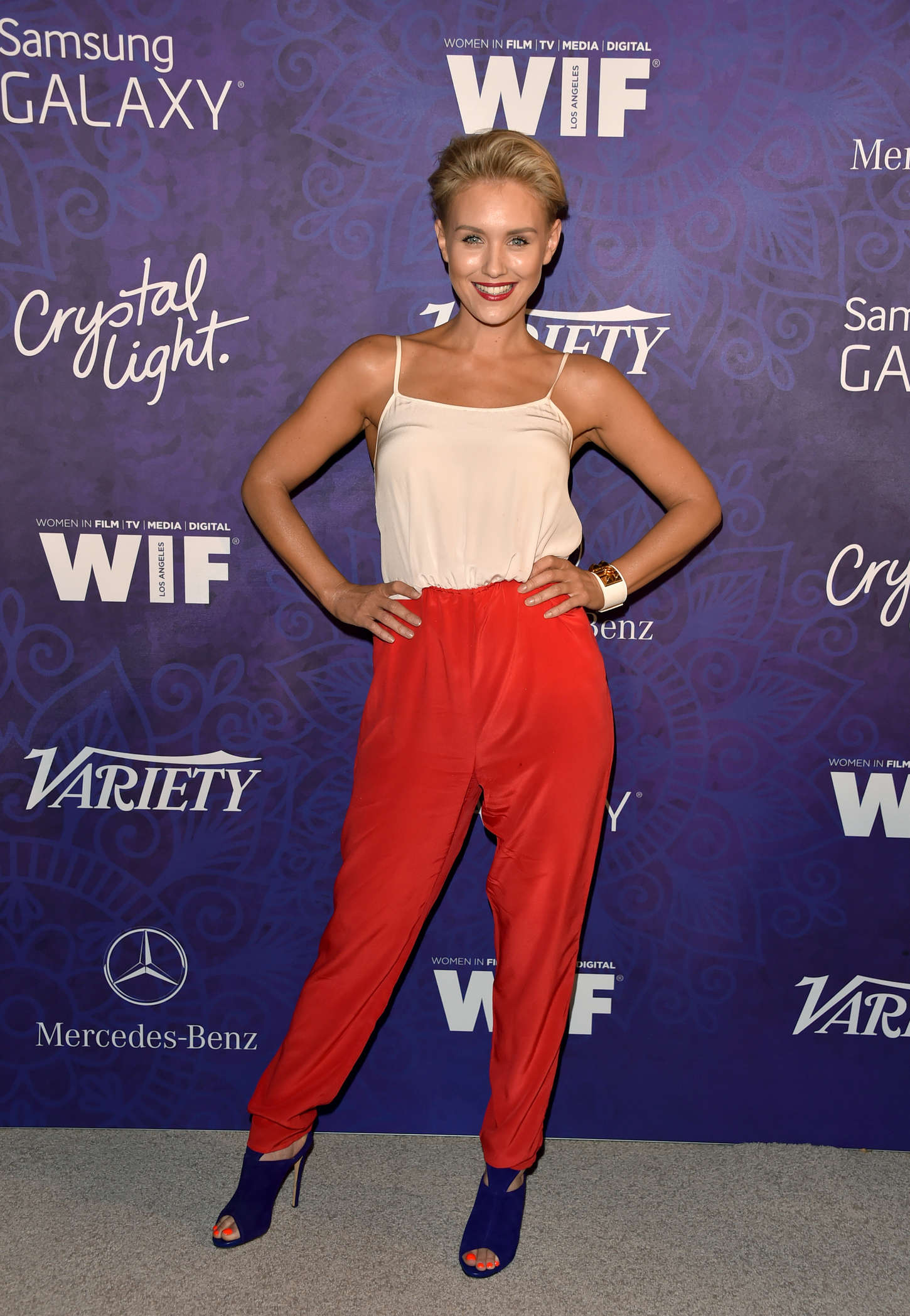 Nicky Whelan Variety and Women in Film Emmy Nominee Celebration in West Hollywood