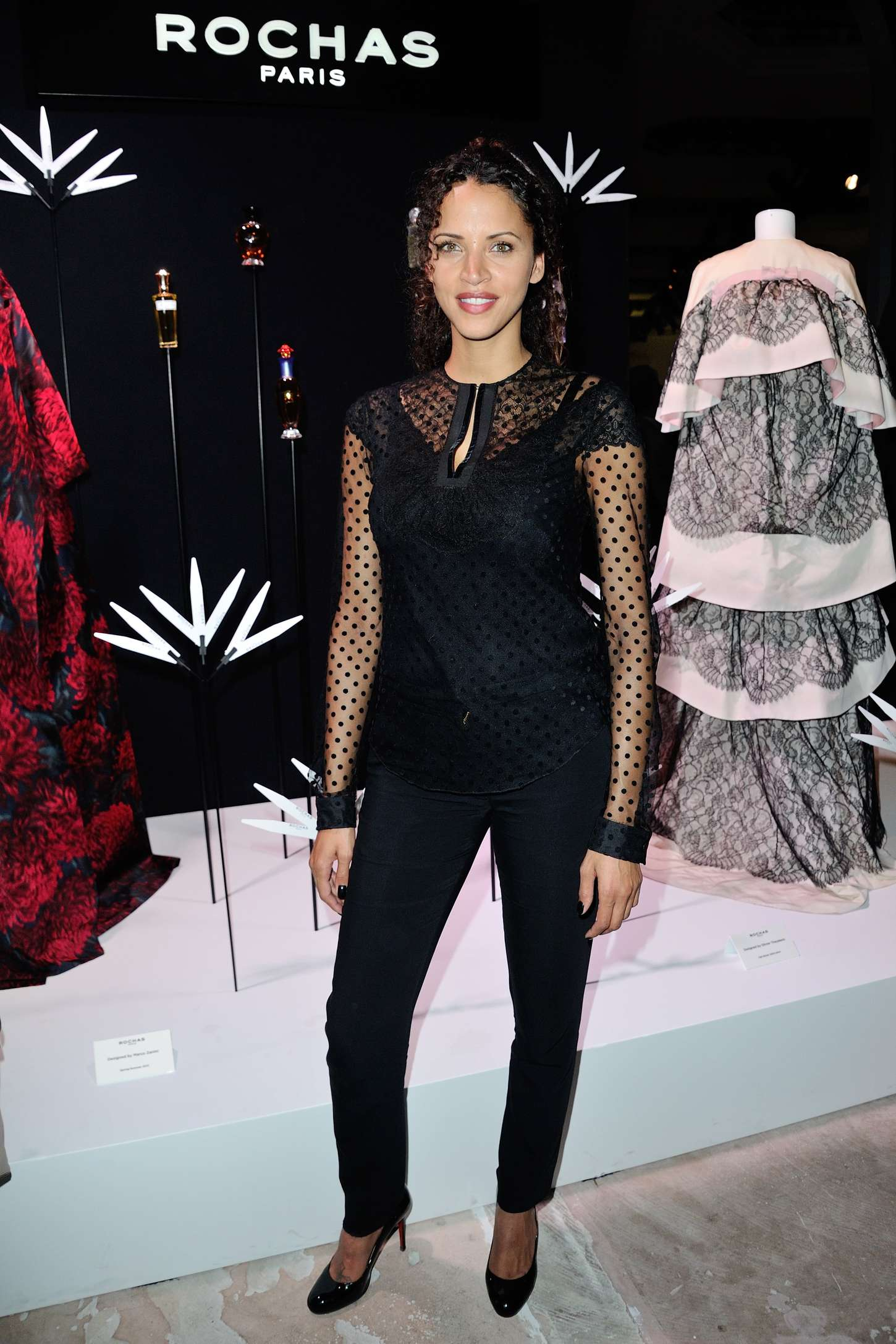 Noemie Lenoir Rochas Anniversary Cocktail at PFW SS in Paris