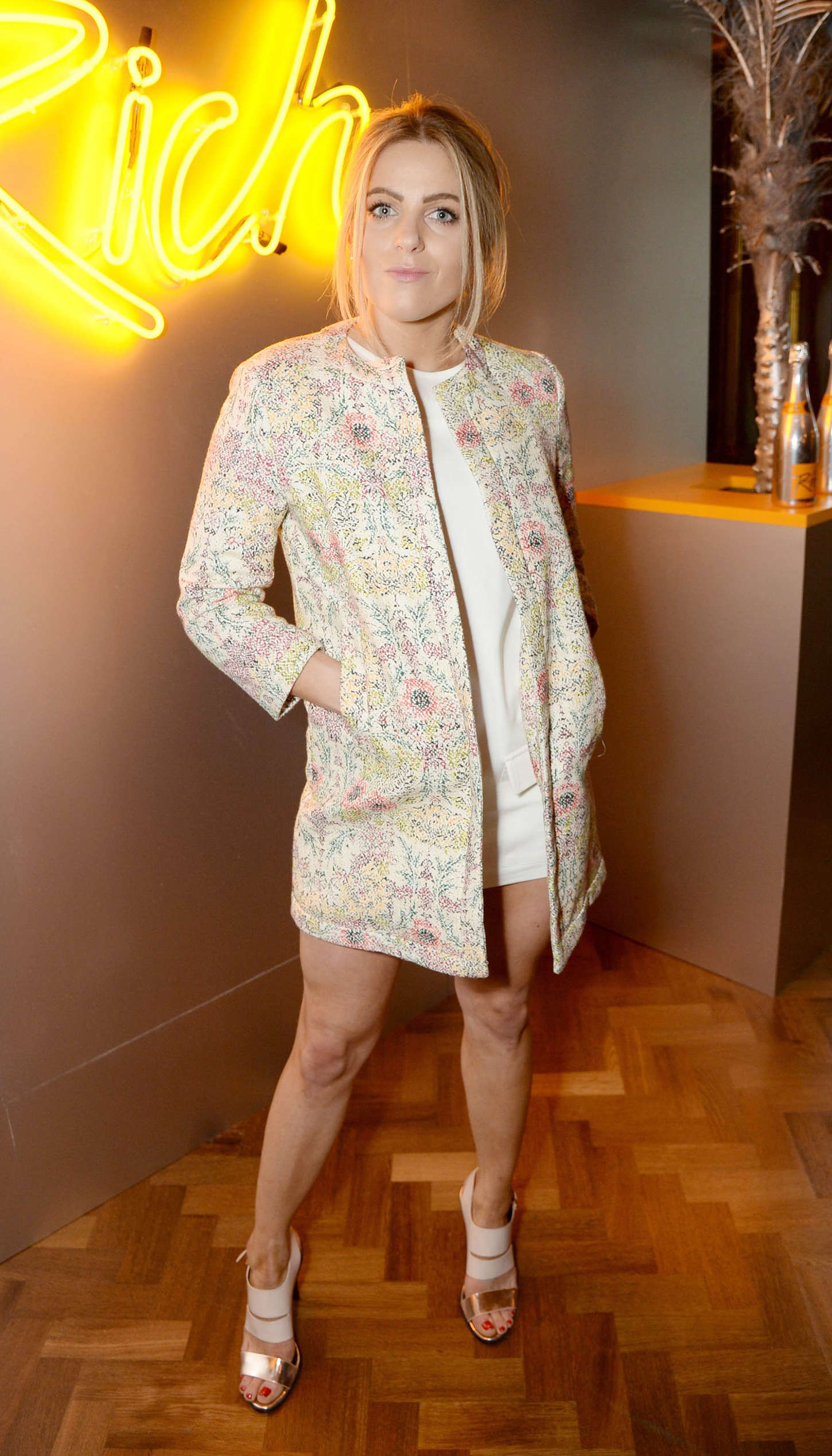 Olivia Cox Veuve Cliquot Rich Launch Party in London
